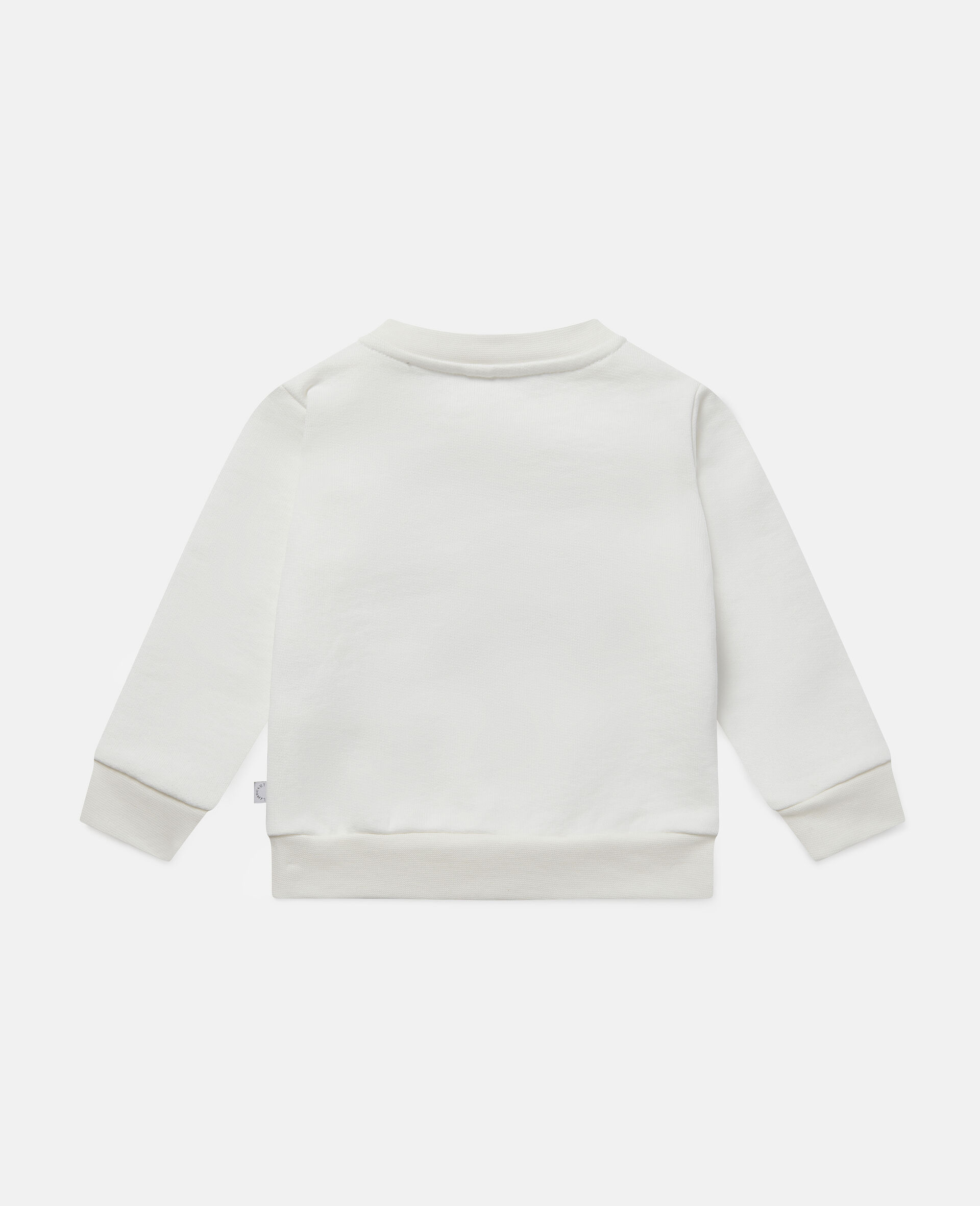 Daisy Heart Cotton Fleece Sweatshirt -White-large image number 3