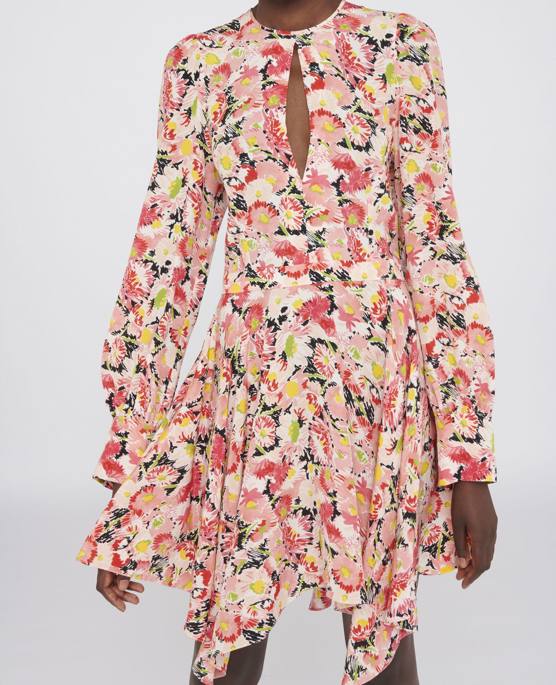 Felicity Silk Dress-Multicolour-large image number 3