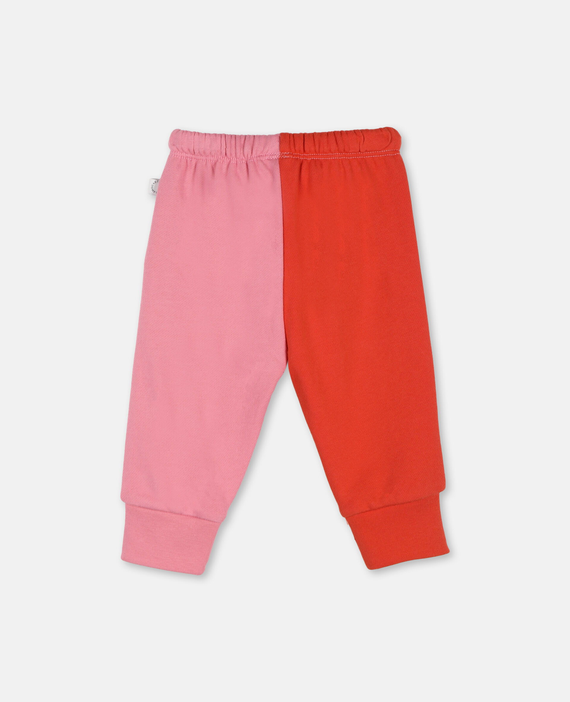 Hearts Cotton Joggers -Pink-large image number 3