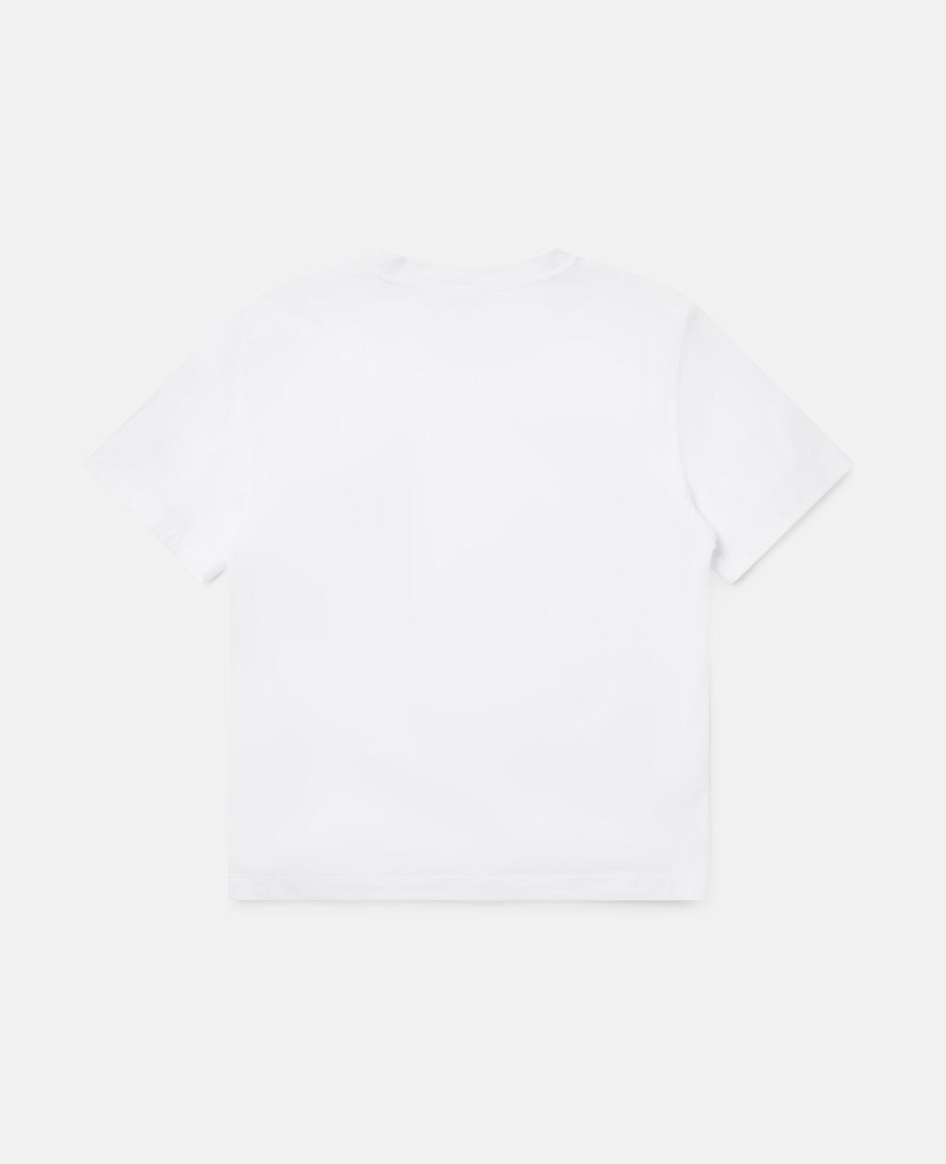 Oversized 'Plant More Trees' T-shirt-White-large image number 3