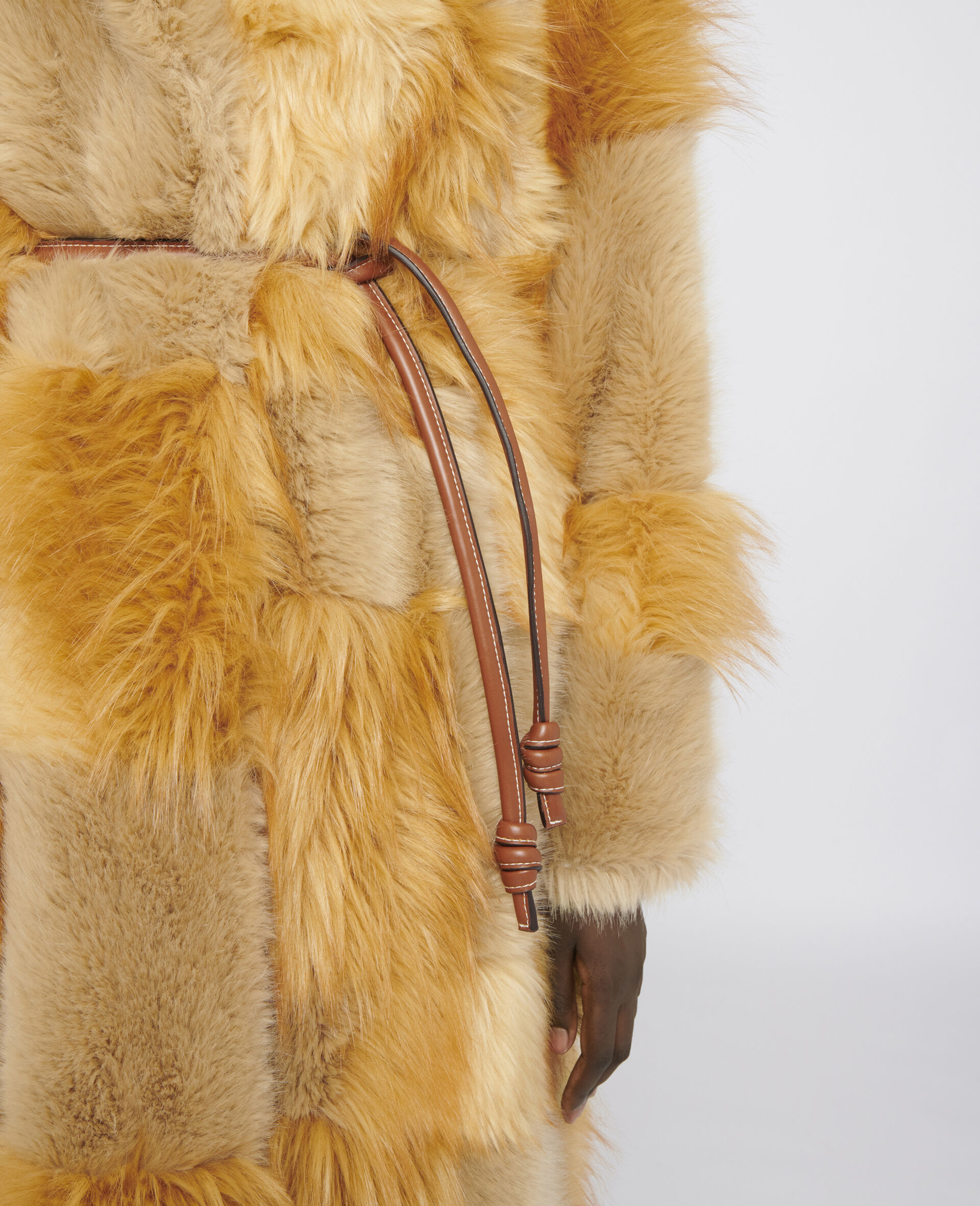 FUR FREE FUR Adrienne Coat-Brown-large image number 3