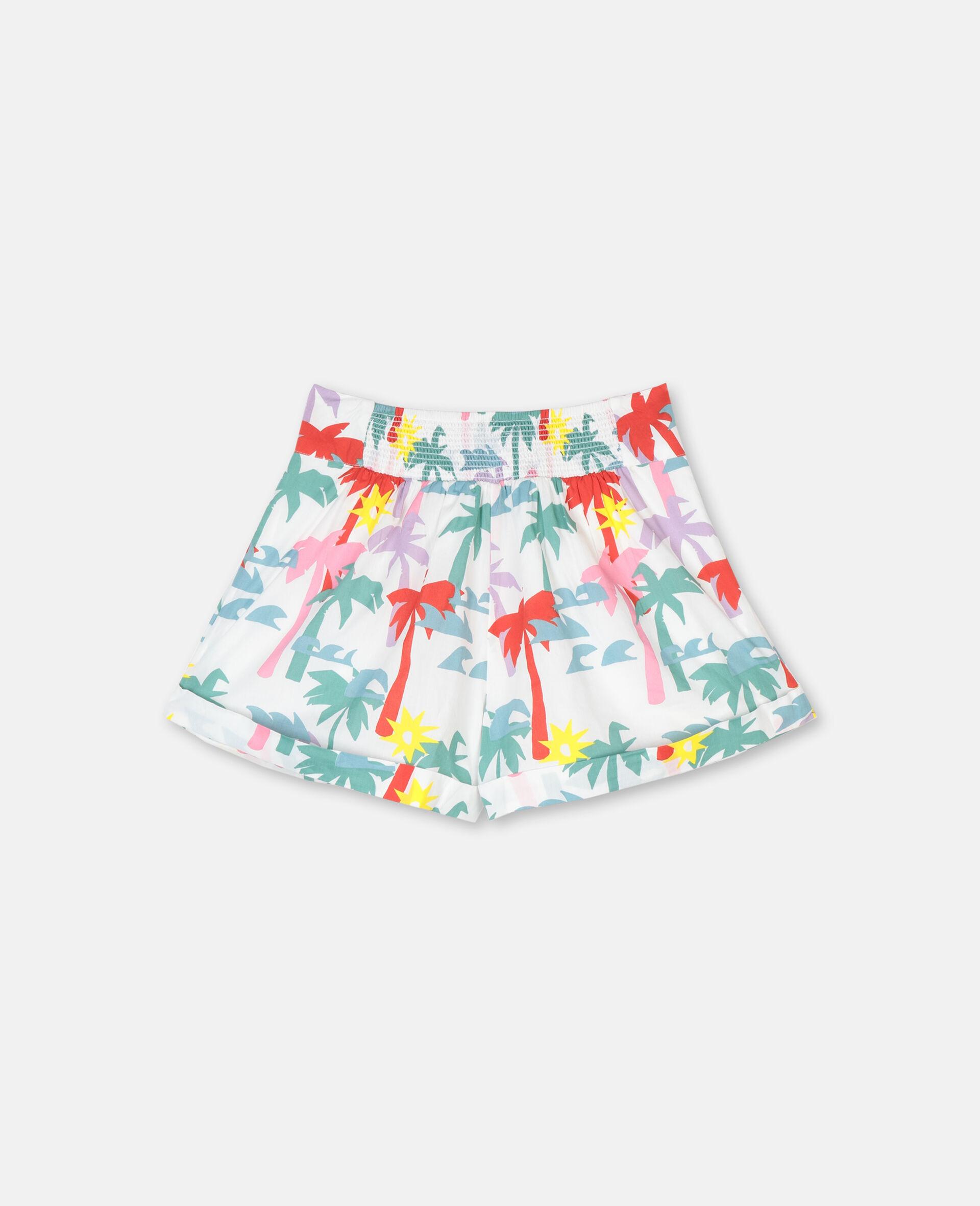 Palm Cotton Shorts-Multicoloured-large image number 3