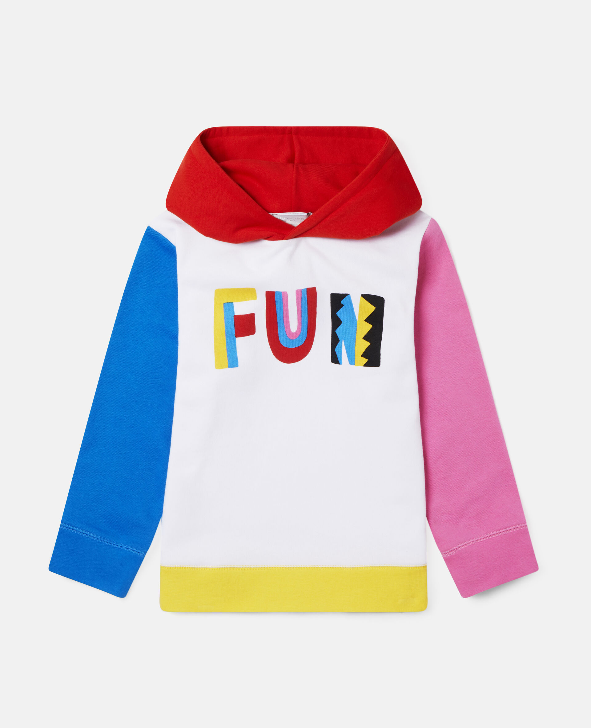Fun Colour block Oversize Fleece Hoodie-Multicolour-large image number 0