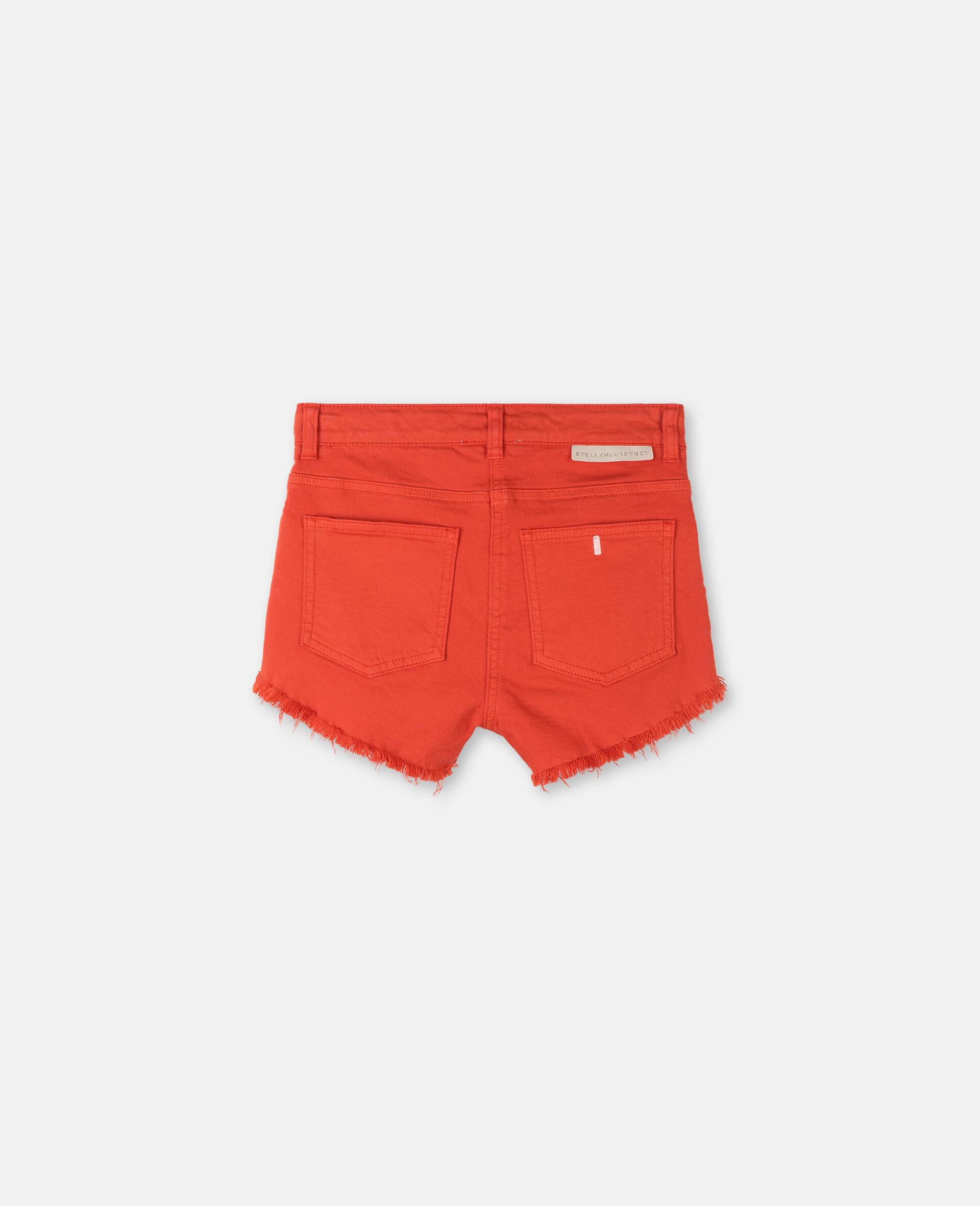 红色牛仔短裤 -红色-large image number 3