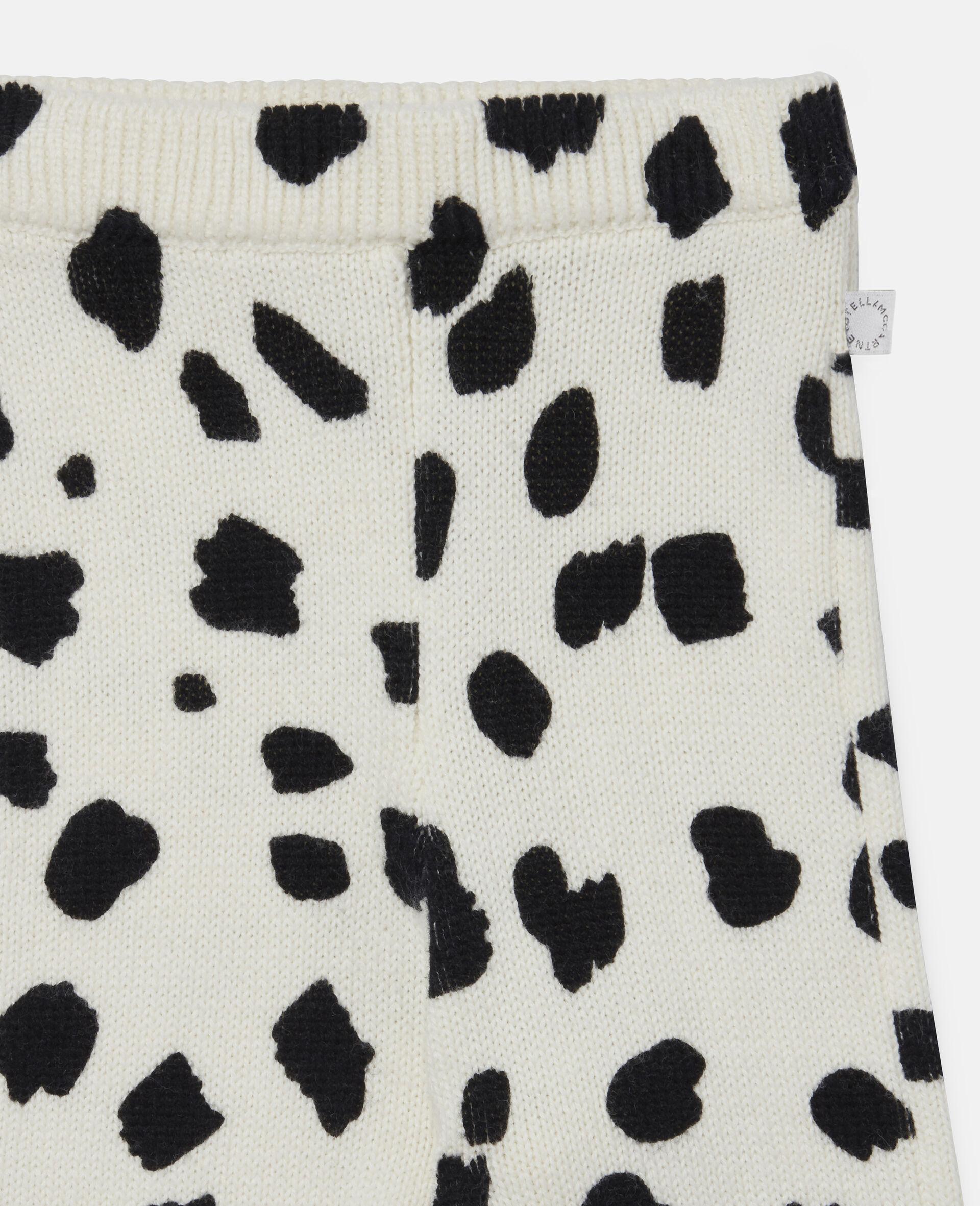 Dalmatian Spots Knit Leggings-White-large image number 2
