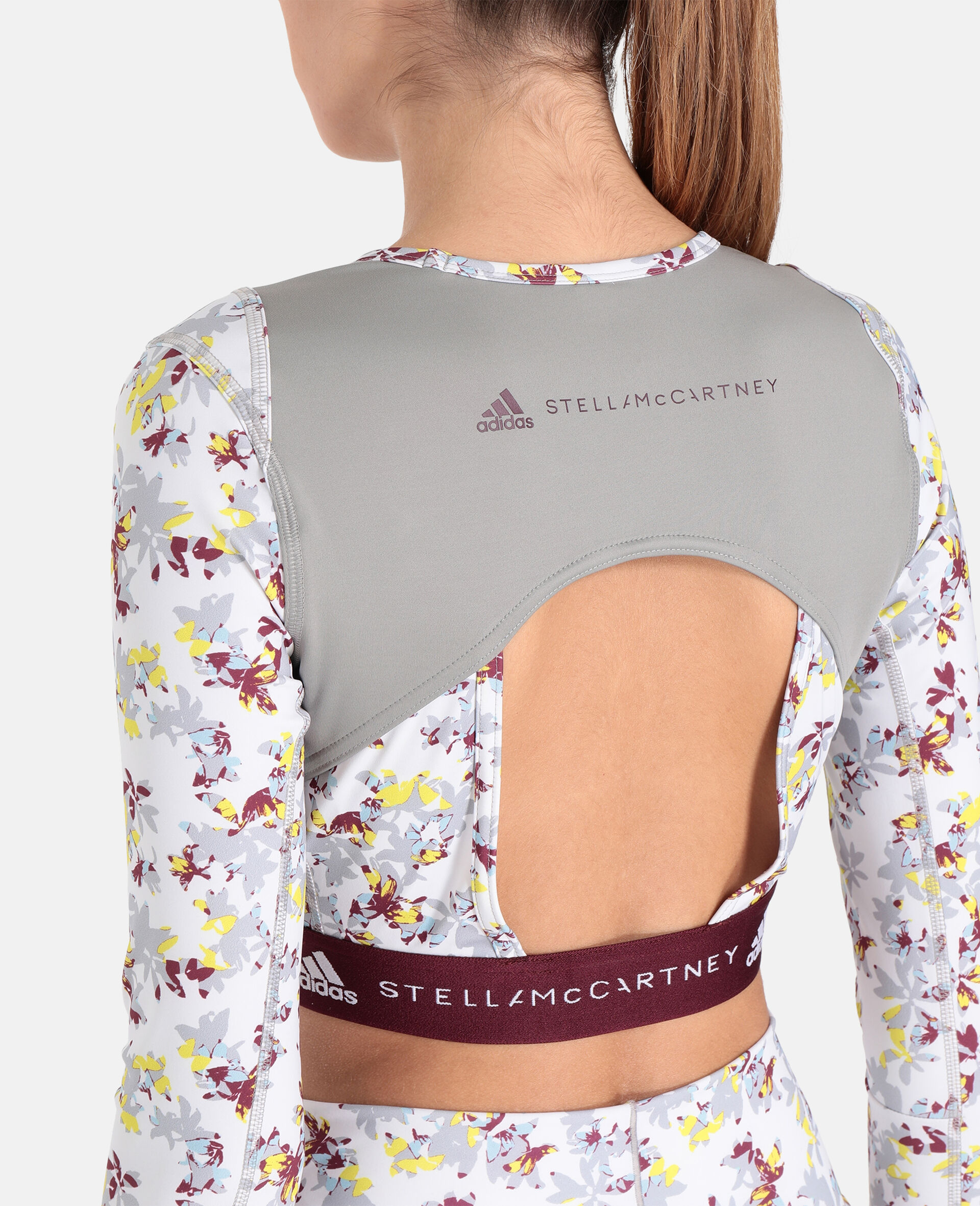 Future Playground Long-Sleeved Crop Top -White-large image number 3