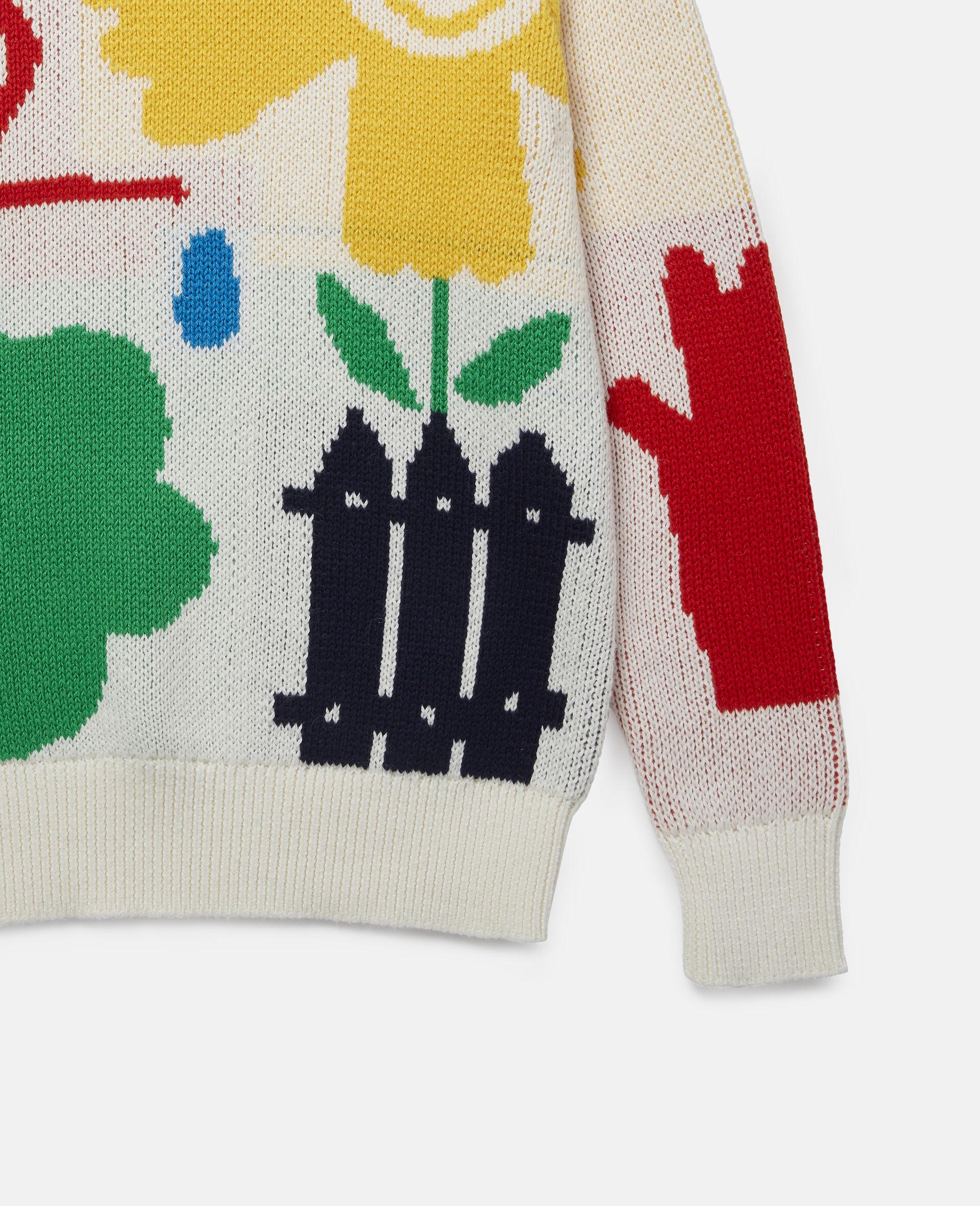 Garden Knit Jumper-White-large image number 1