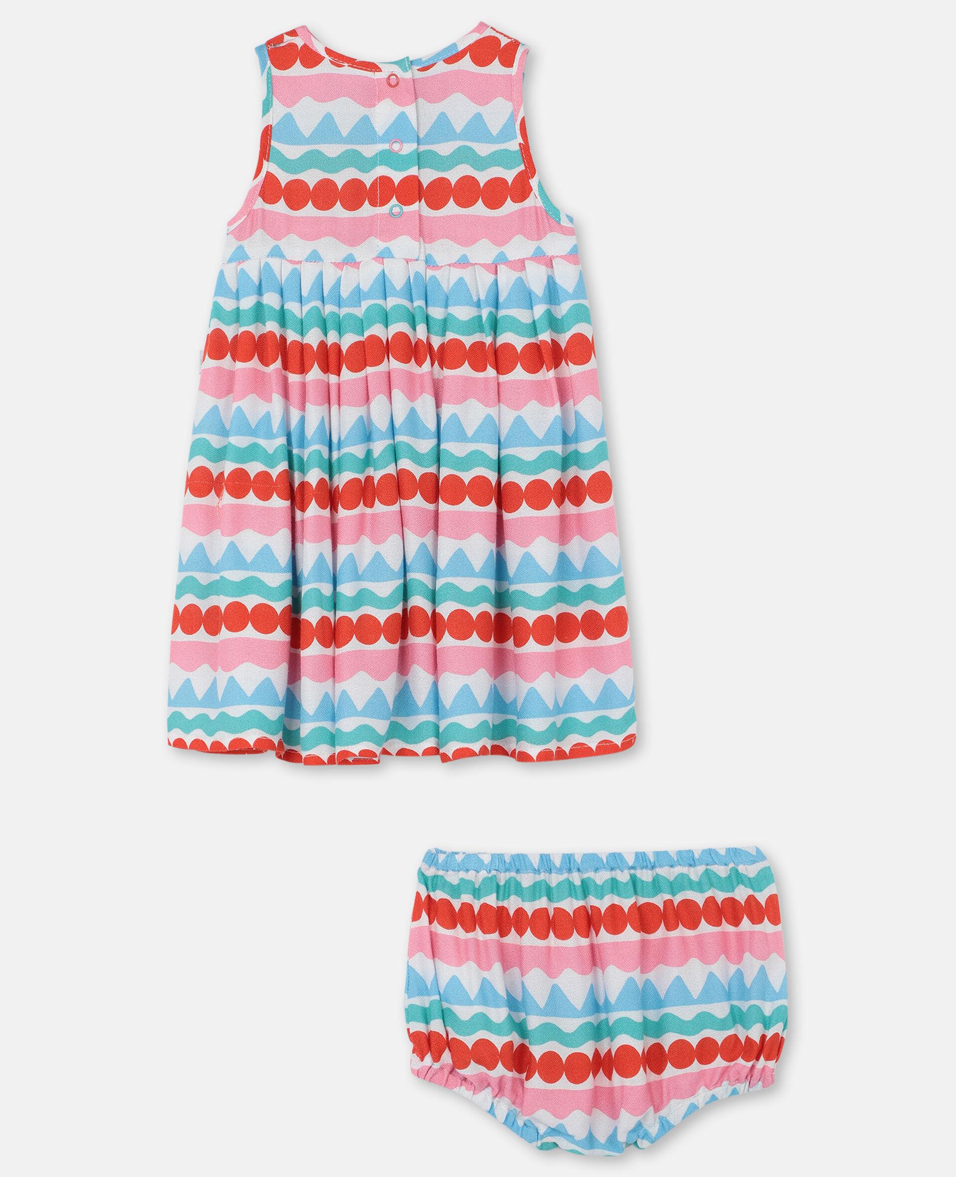 图形感条纹连衣裙 -Multicolored-large image number 3