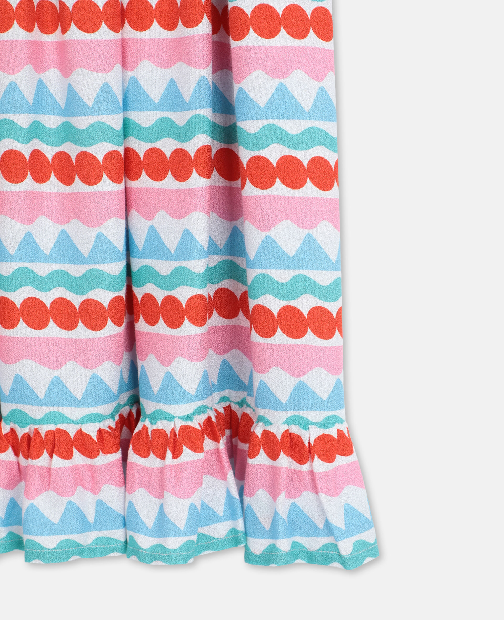 Graphic Striped Dress -Multicoloured-large image number 2