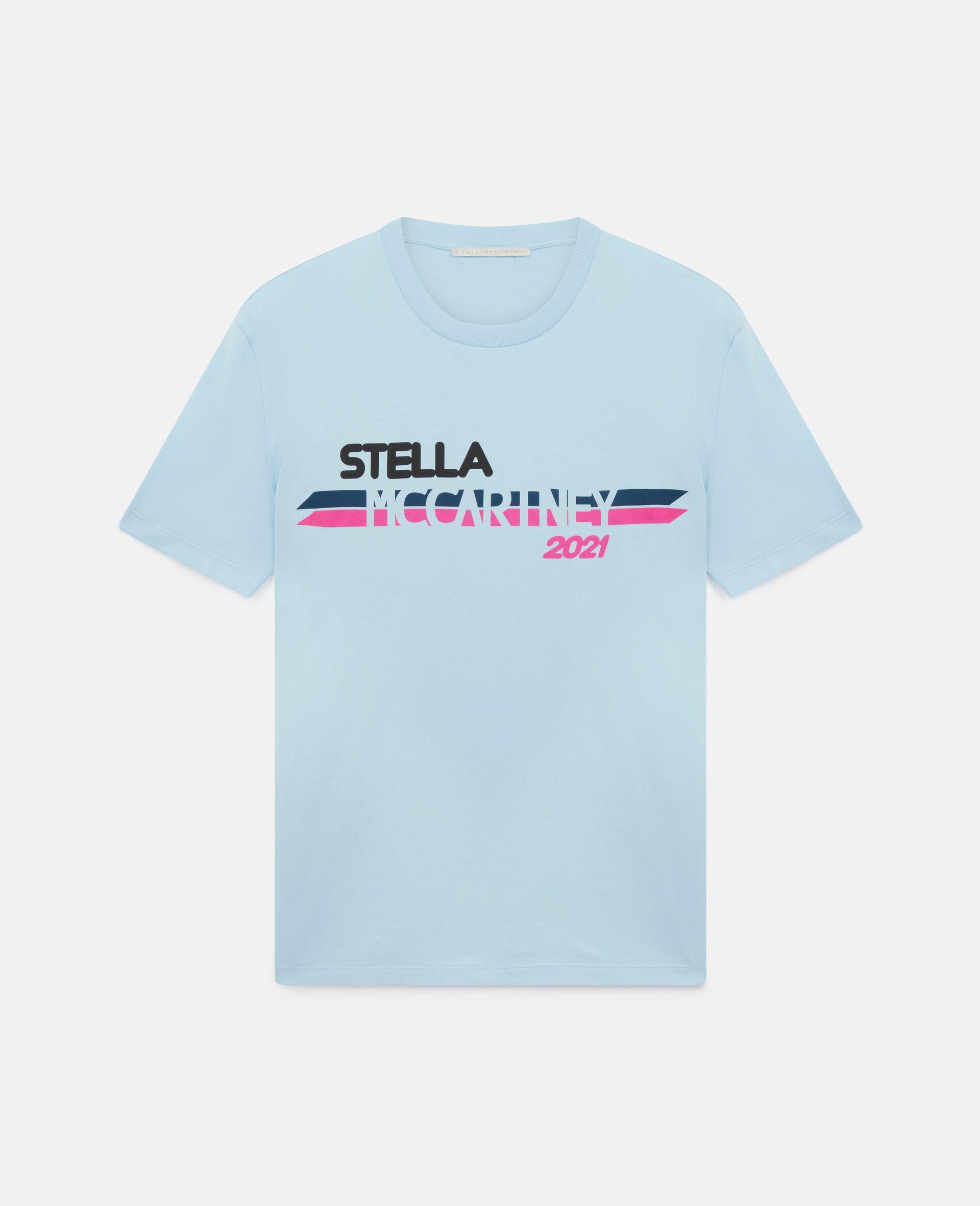 Stella McCartney 2021 T-Shirt mit Logo-Blau-large image number 0