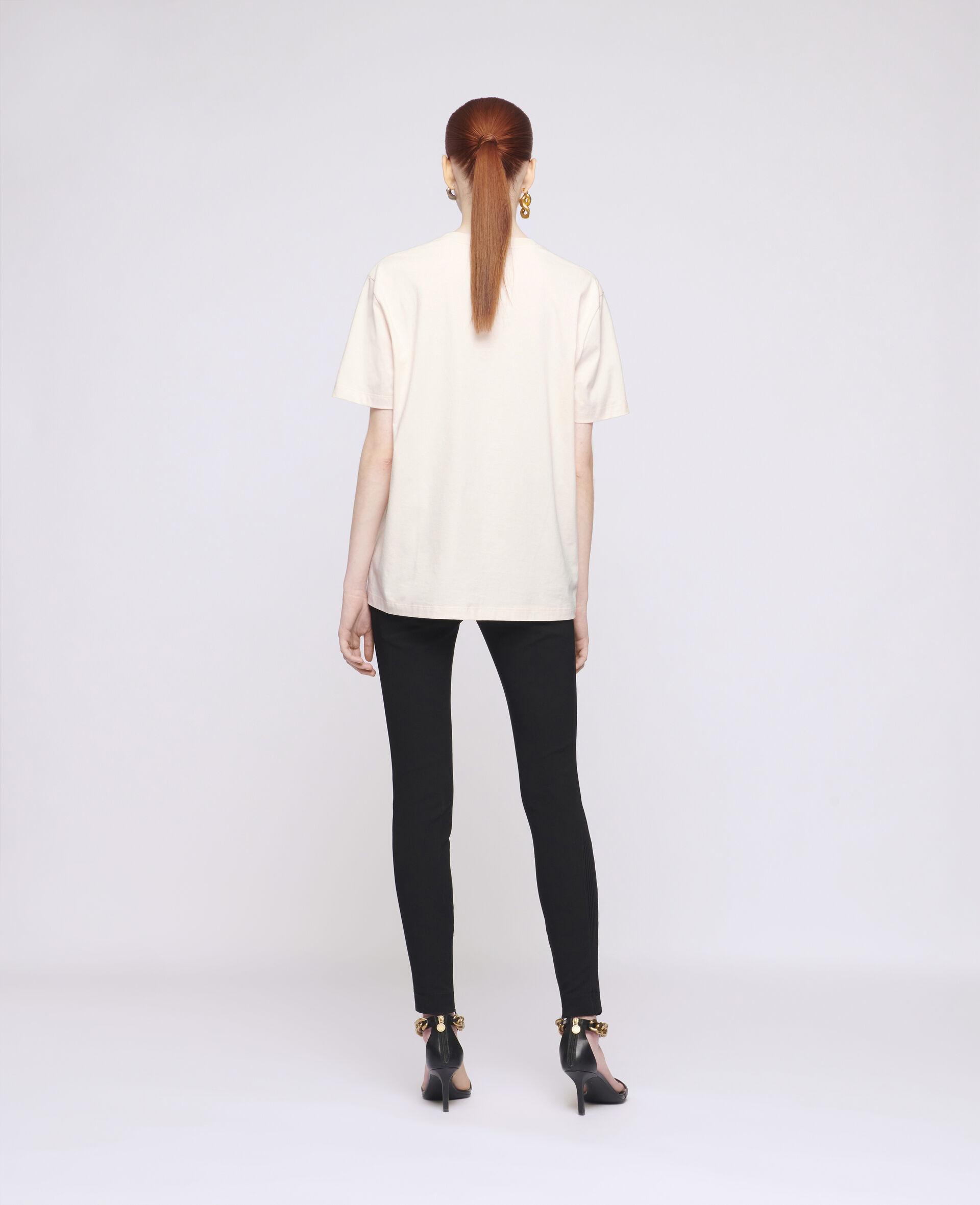 Baumwoll-T-Shirt mit Erde-Print-Weiß-large image number 2