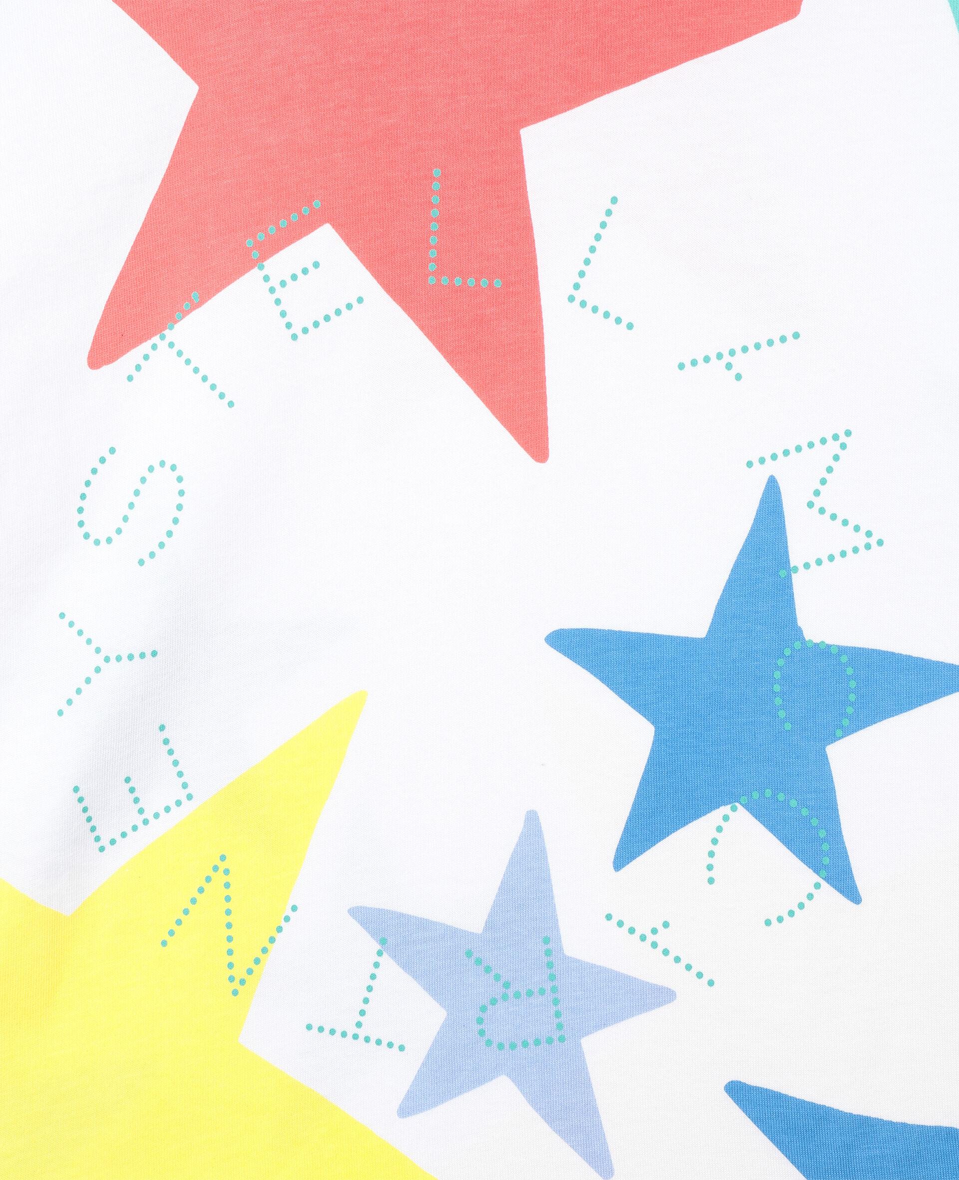 Baumwoll-T-Shirt mit bunten Sternen-Weiß-large image number 1