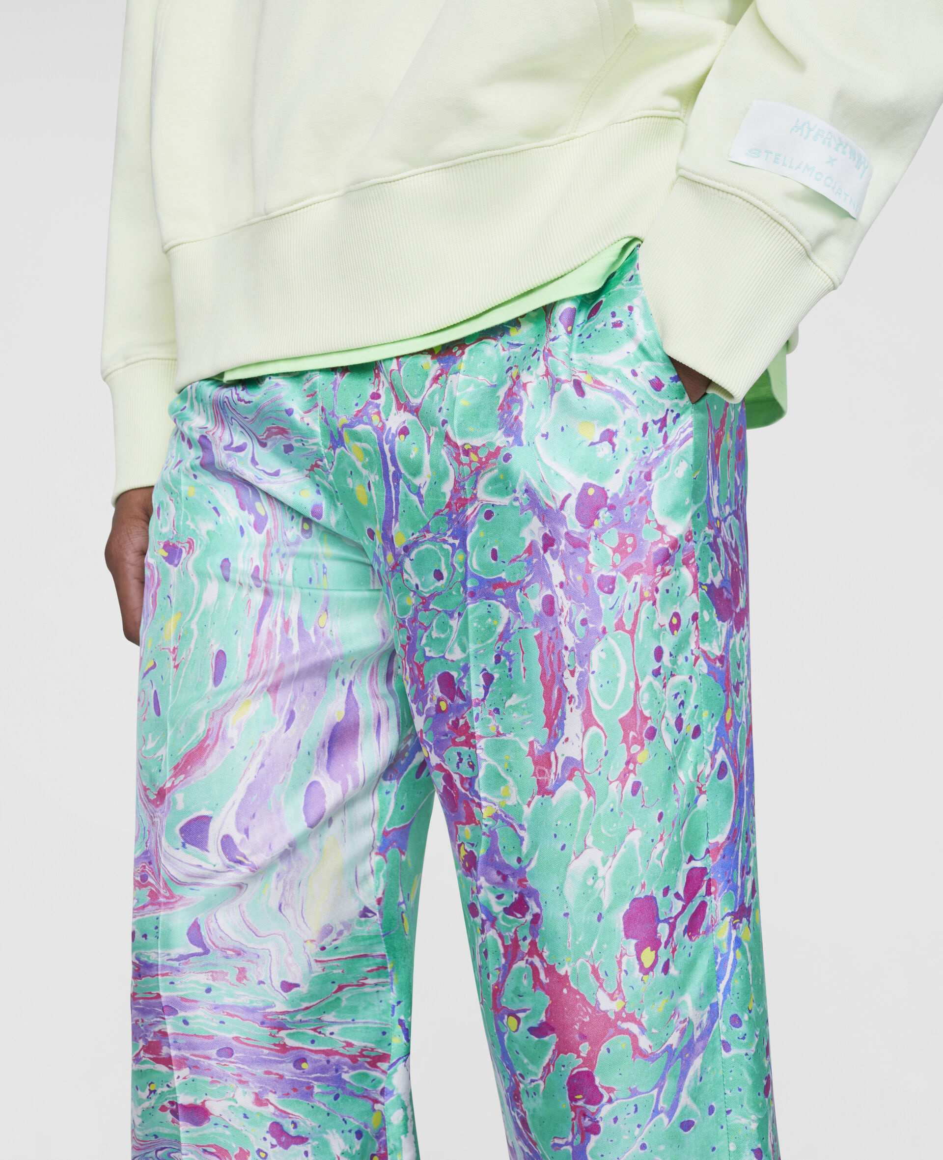Myfawnwy Printed Silk Trousers-Multicolour-large image number 4