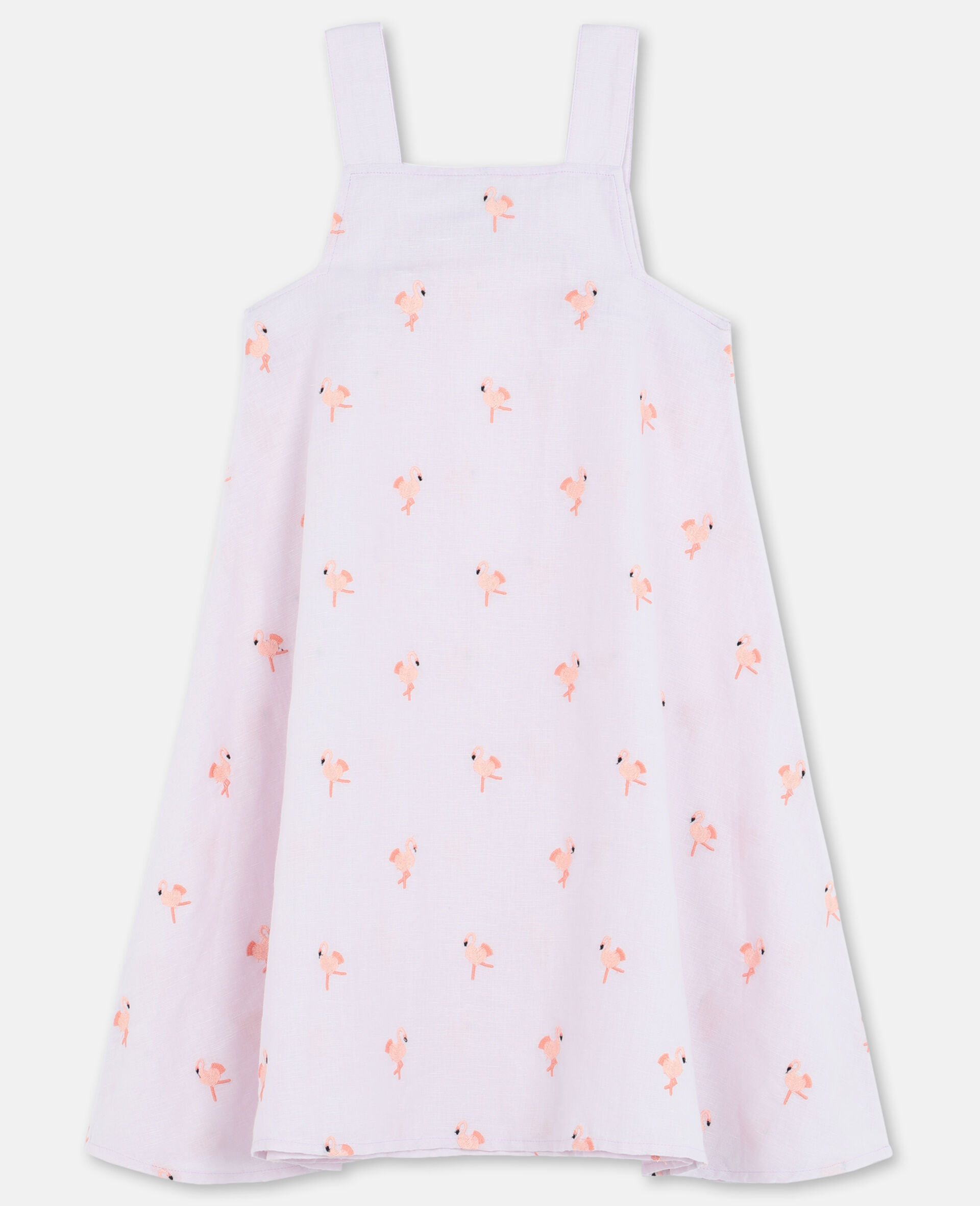 Embroidered Flamingo Dress-Pink-large image number 3