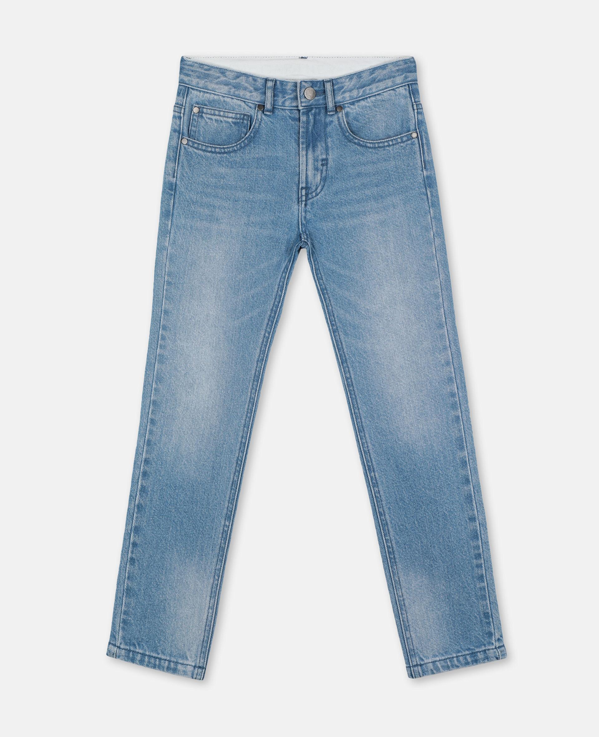 Regular Denim Trousers -Blue-large image number 0