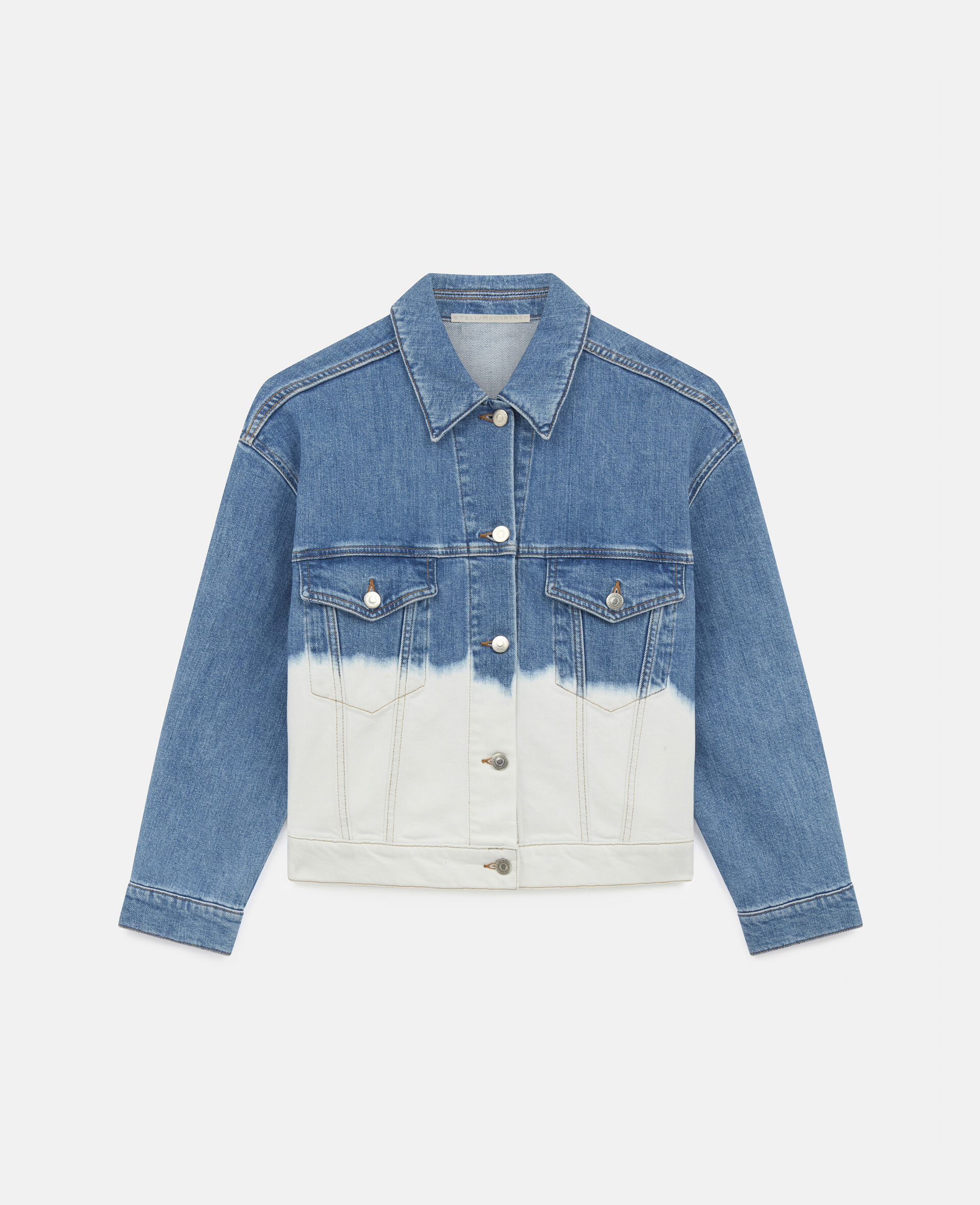 Dip Faded Denim Jacket -Blue-large image number 0