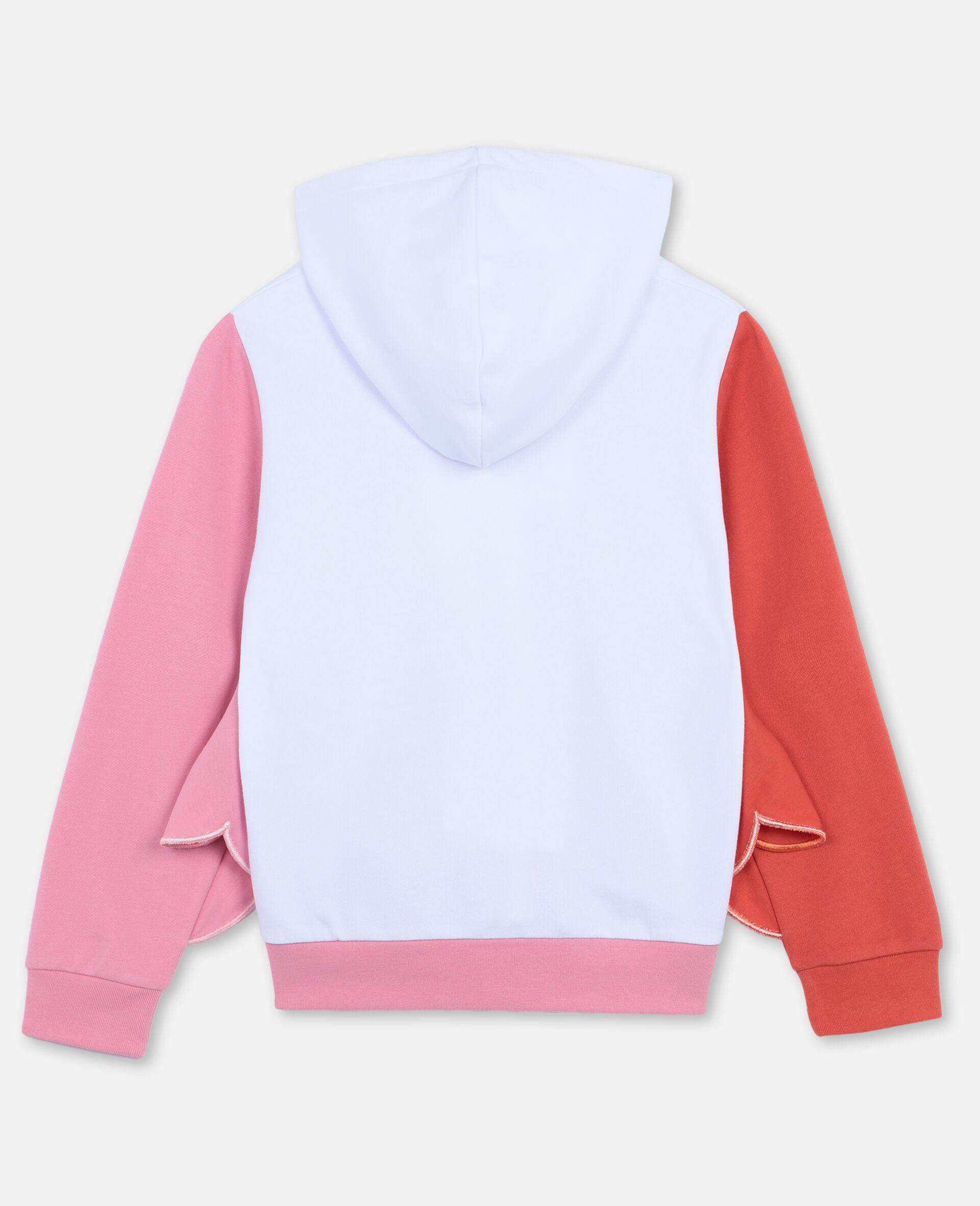 Flamingo Cotton Fleece Zip-Up Hoodie-White-large image number 3