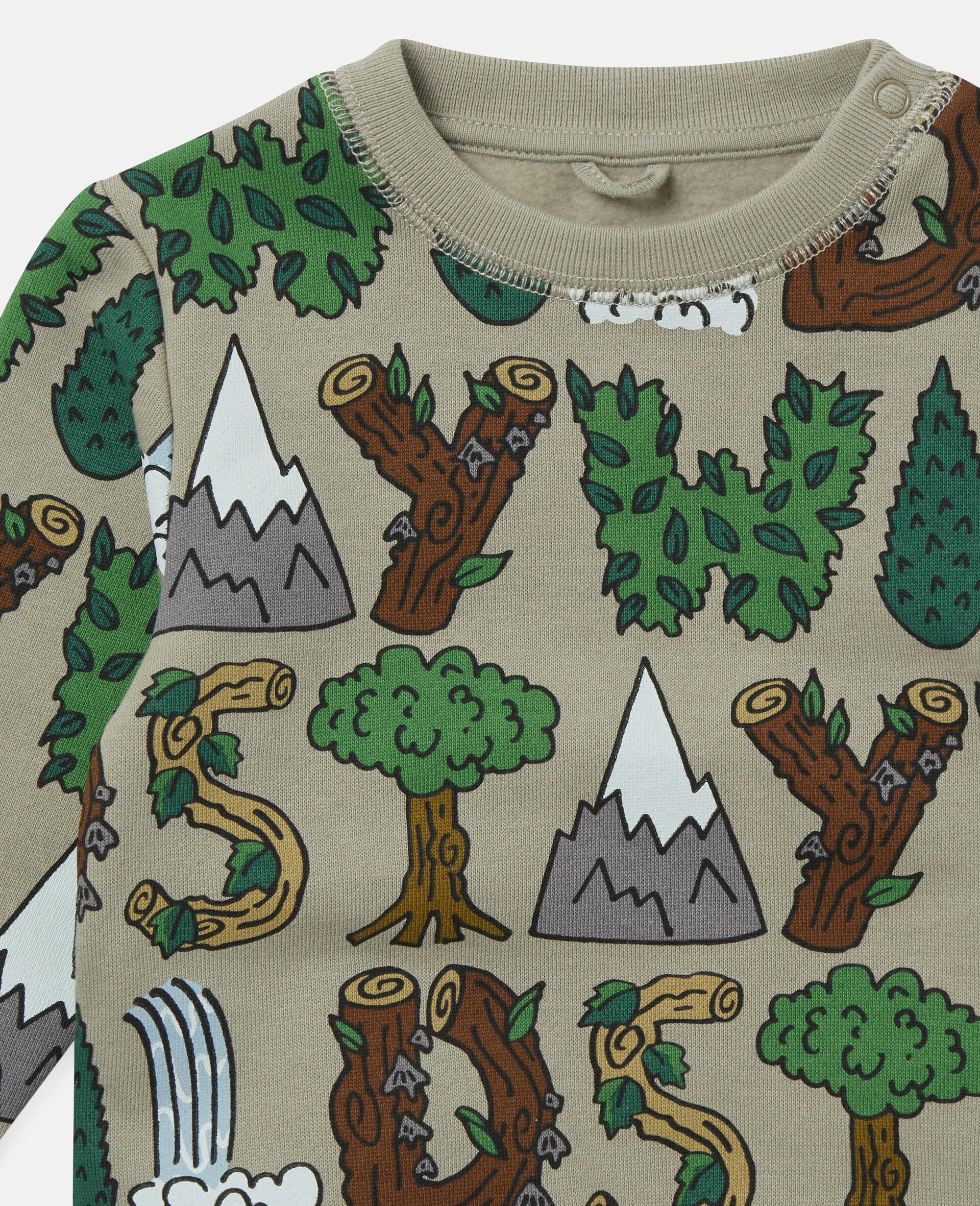 Stay Wild' Fleece Sweatshirt-Green-large image number 1