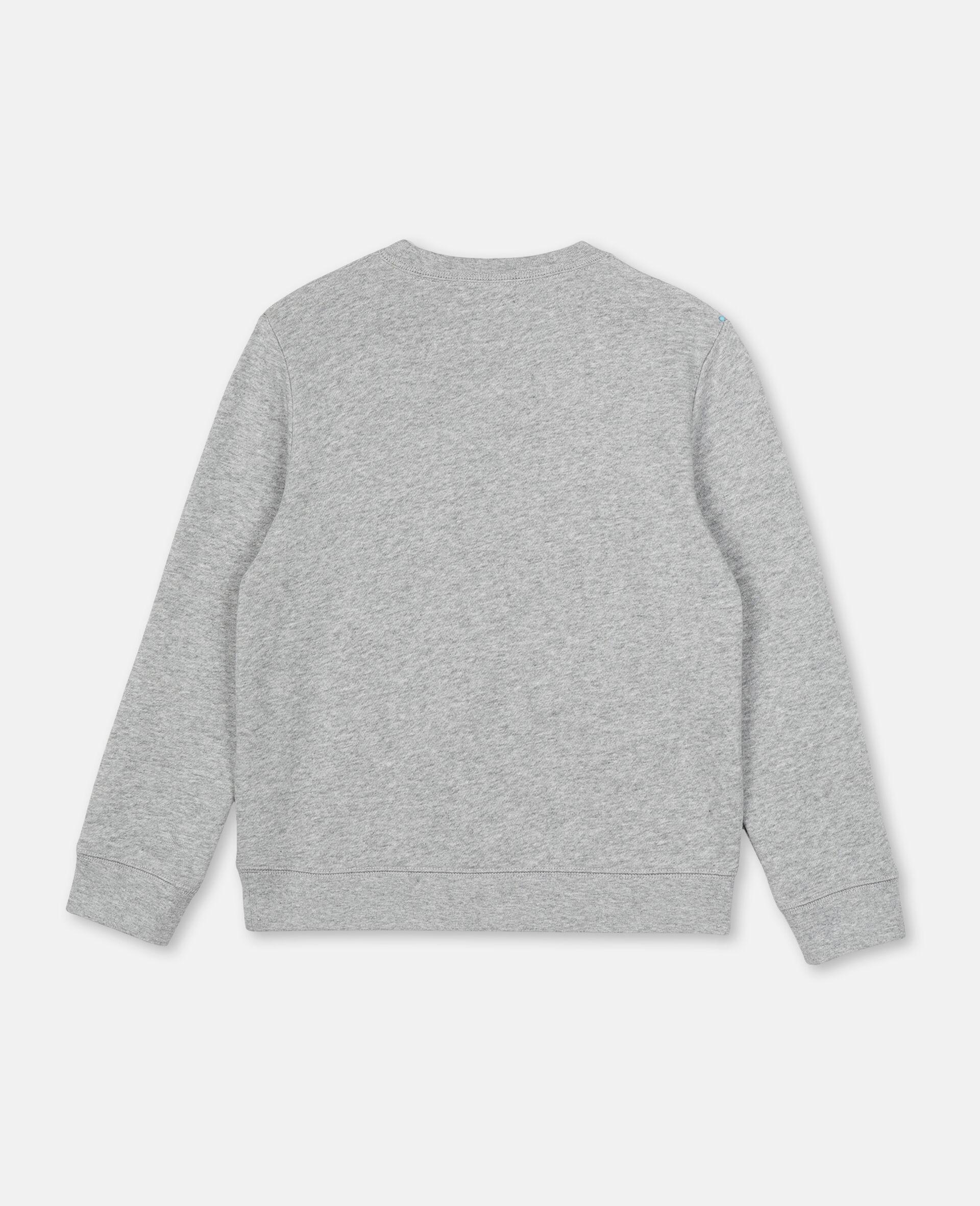 Baumwollsweatshirt mit Piraten-Print -Grau-large image number 3