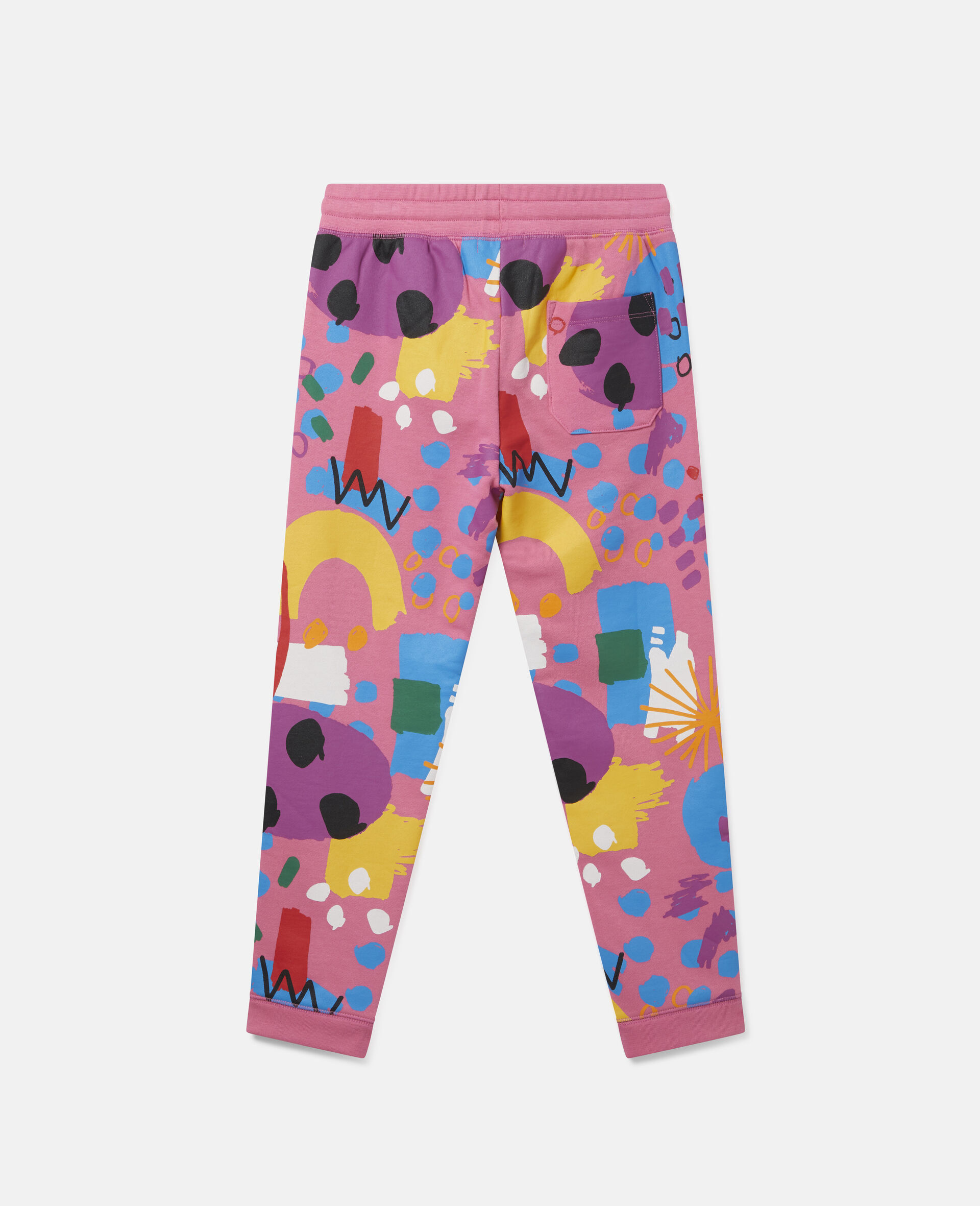 Painting Cotton Fleece Joggers-Pink-large image number 3