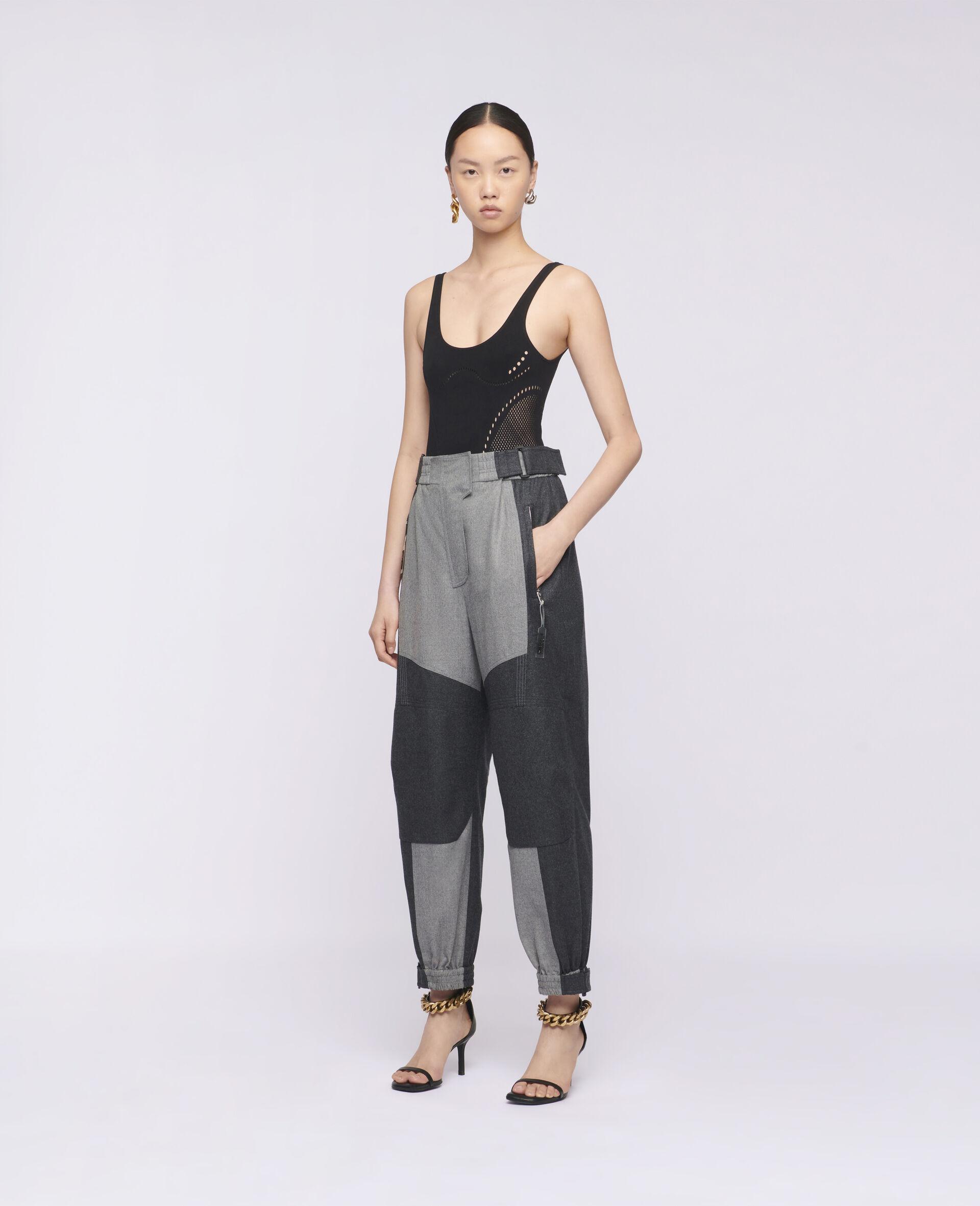 Pantaloni Lacey in Lana-Beige-large image number 1