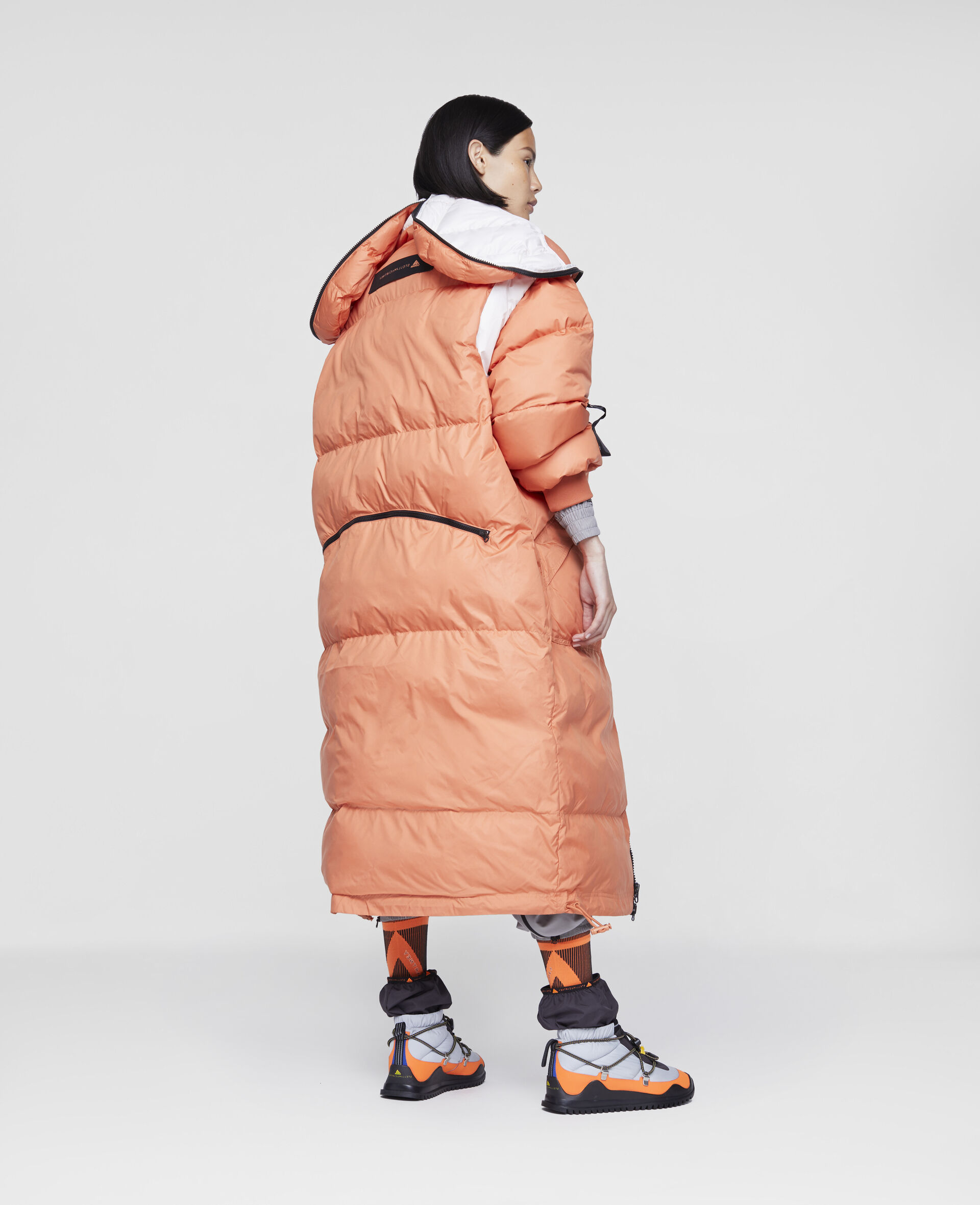 Dusted Clay and White Earth Protector Puffer-Orange-large image number 2
