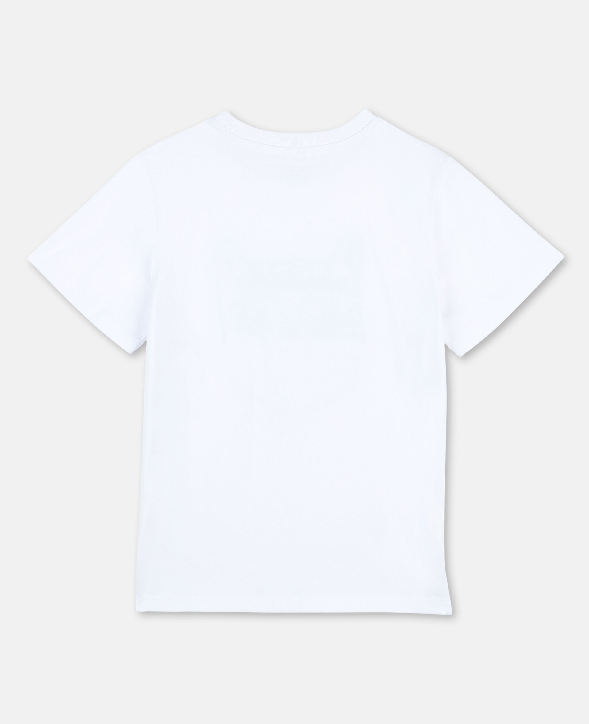T-Shirt in Cotone Funny Tiger -Bianco-large image number 3