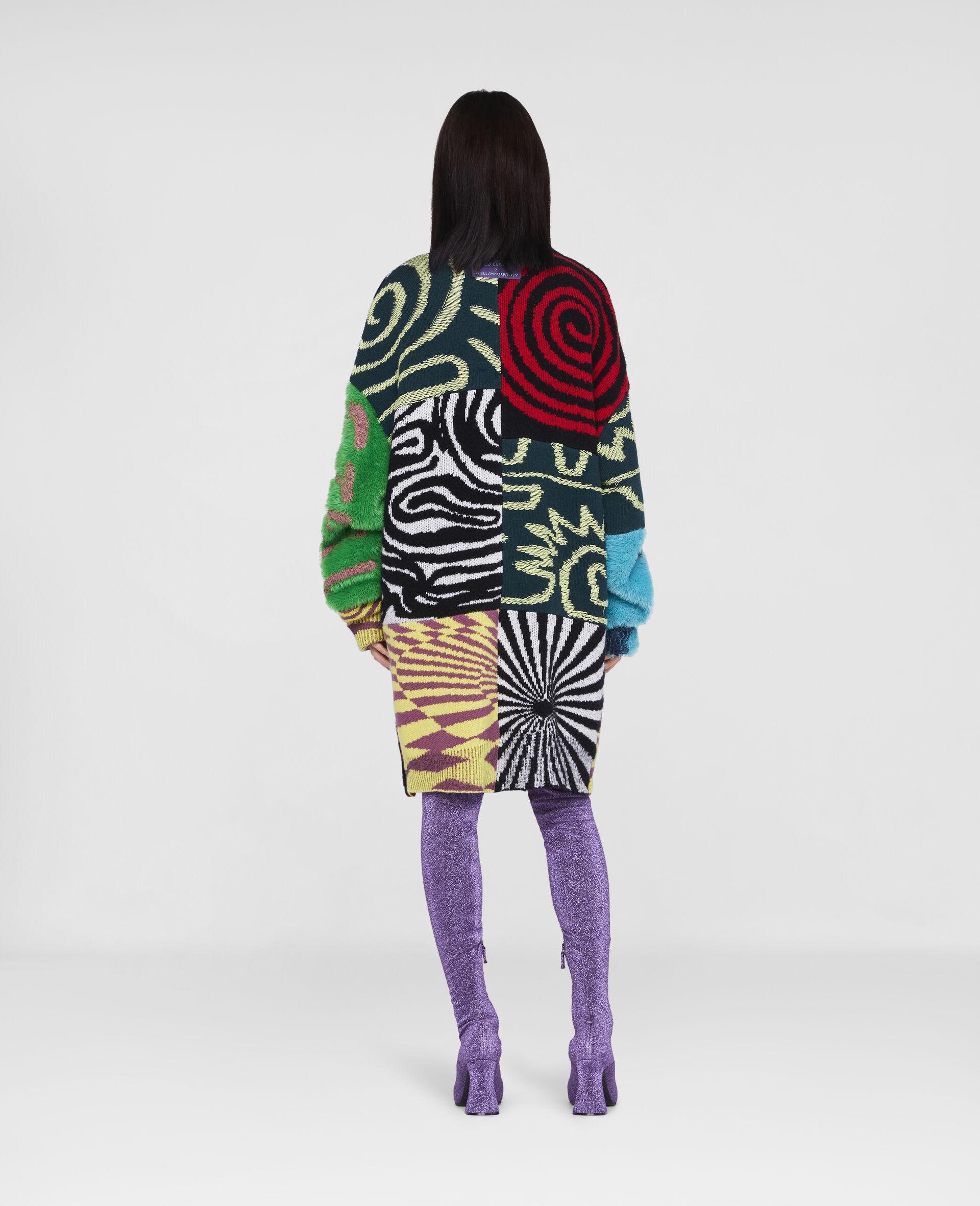 Ed Curtis Patchwork Cardigan-Multicolour-large image number 2
