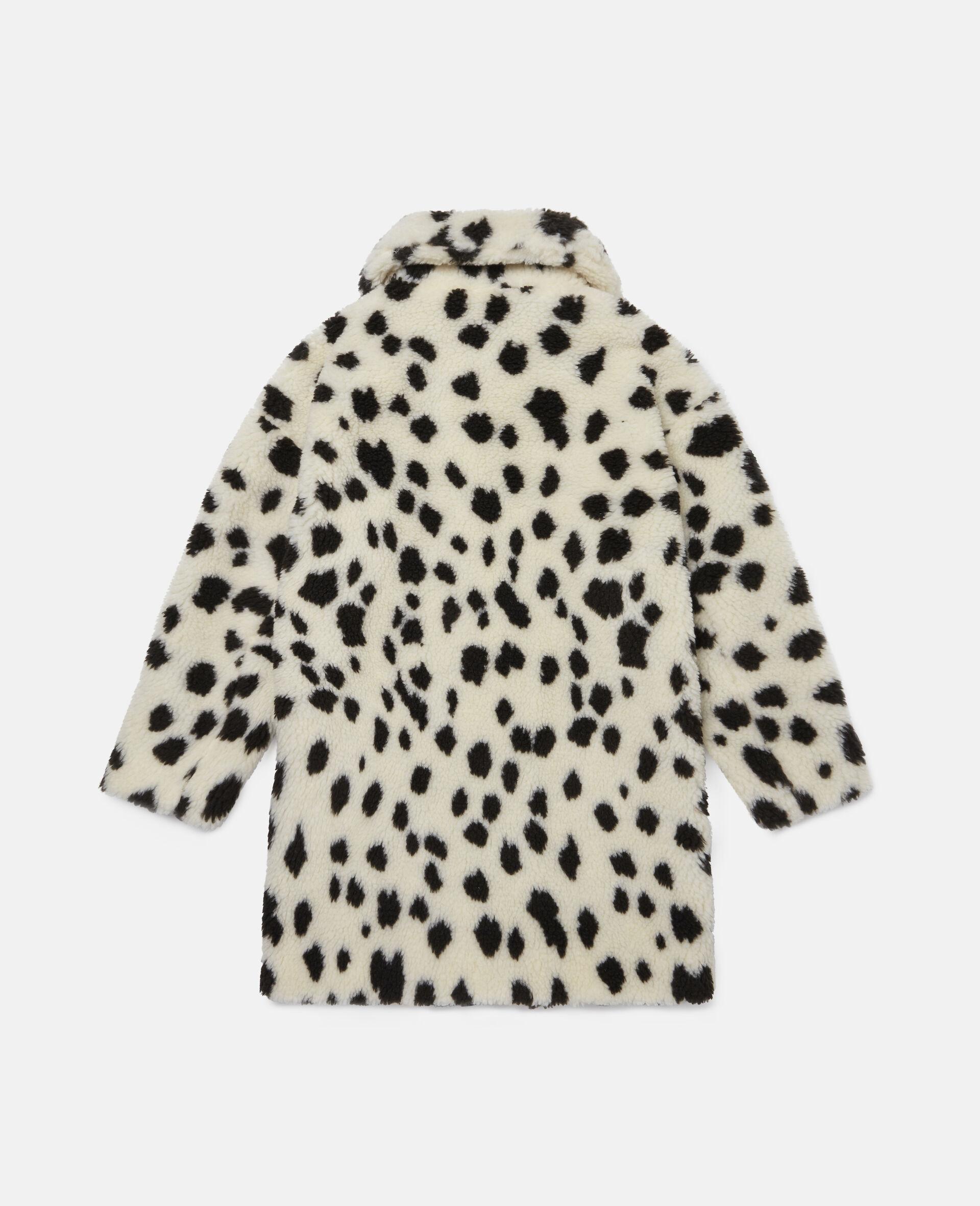 Manteau en Teddy motif dalmatien-Blanc-large image number 3