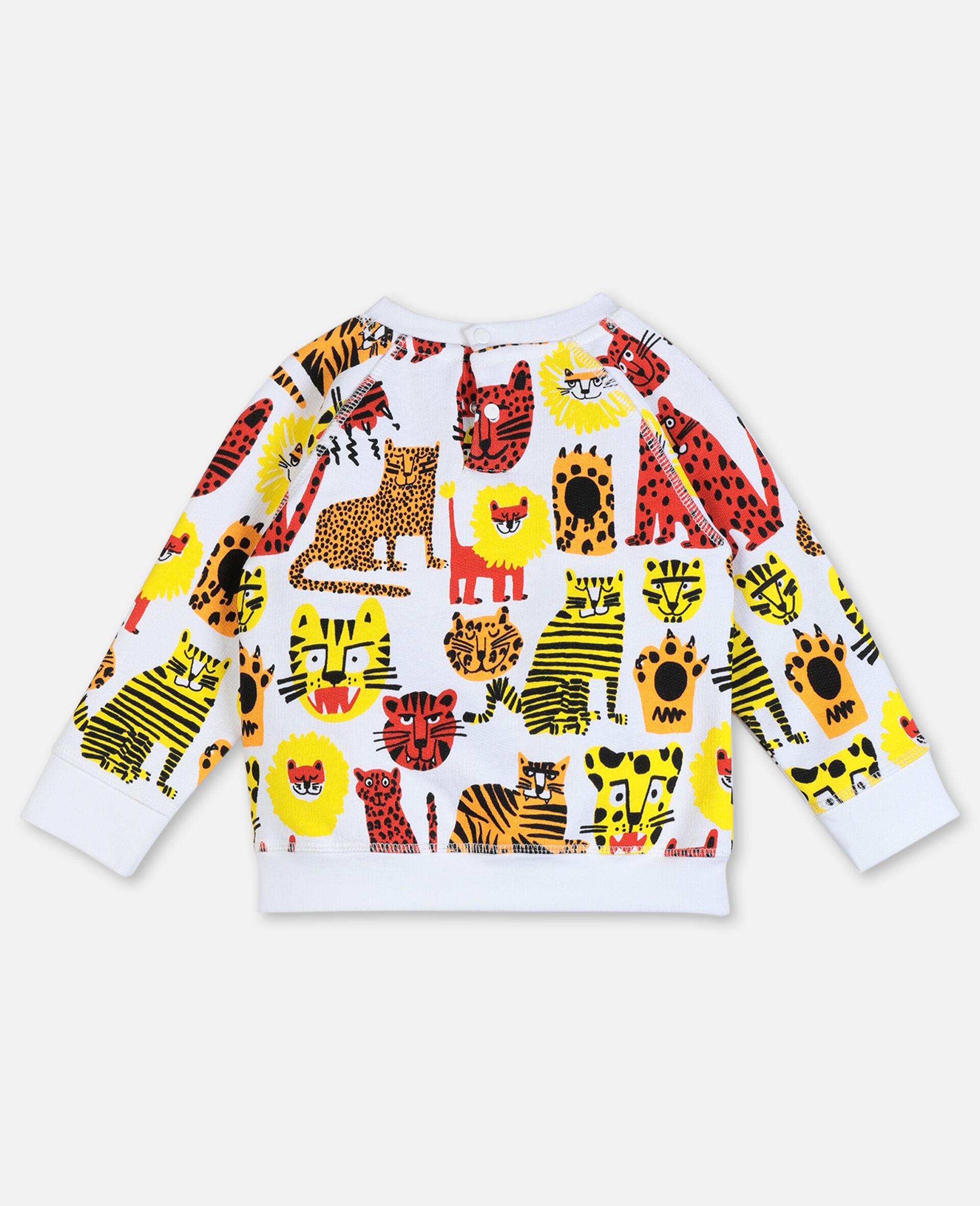 Sweatshirt aus Baumwolle mit Wildkatzen-Print -Gelb-large image number 3