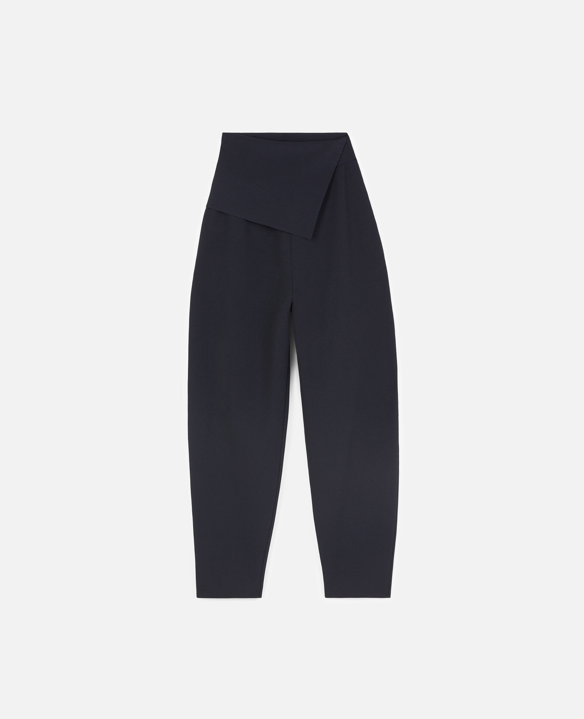Compact Knitted Trousers-Blue-large image number 0