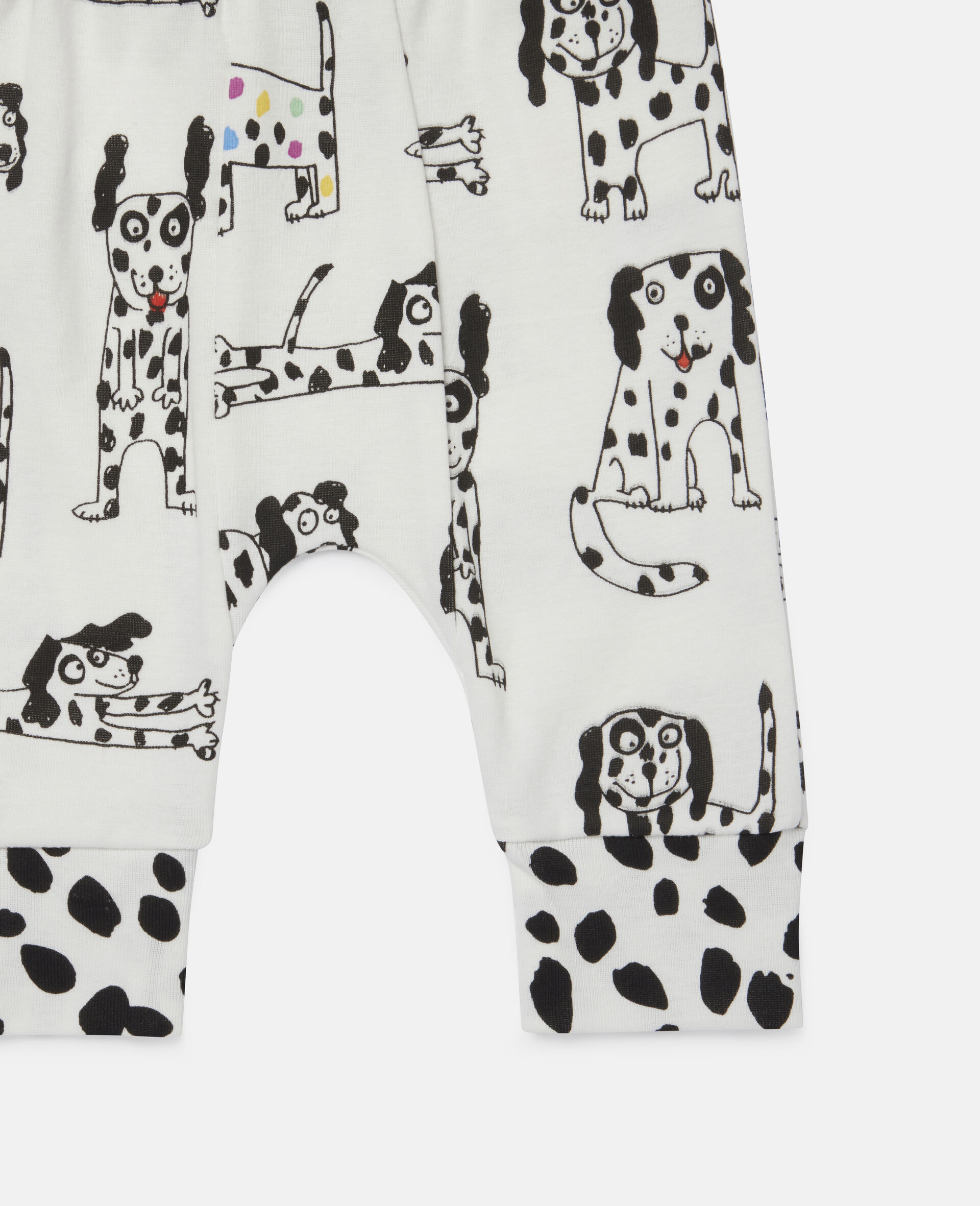 Leggings con Dalmata in Jersey a Coste-Bianco-large image number 1