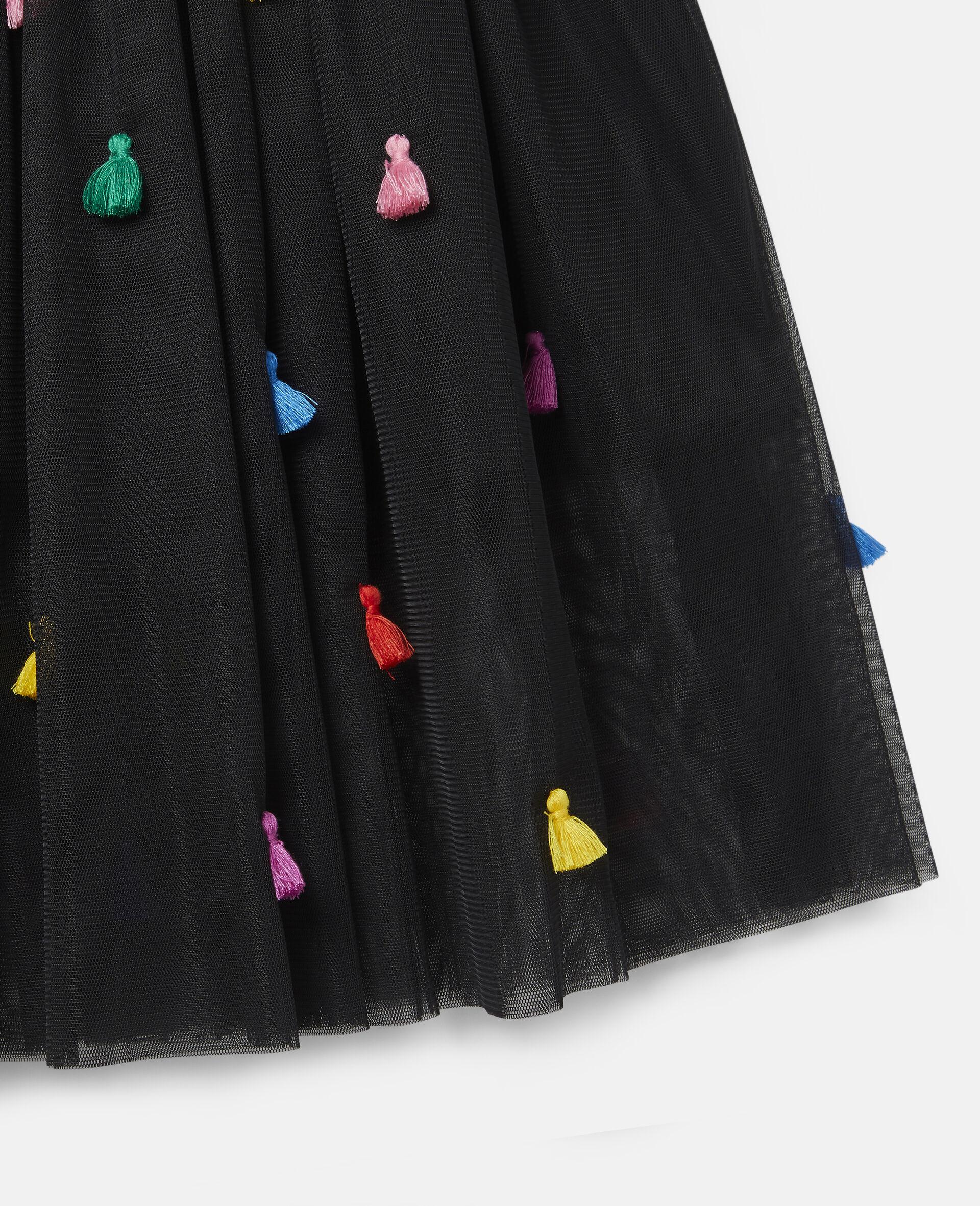 Tassels Tulle Skirt -Black-large image number 1