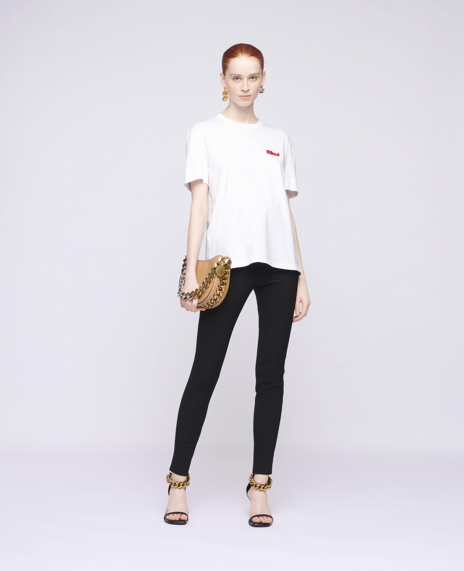T-shirt en coton à logo-Blanc-large image number 1
