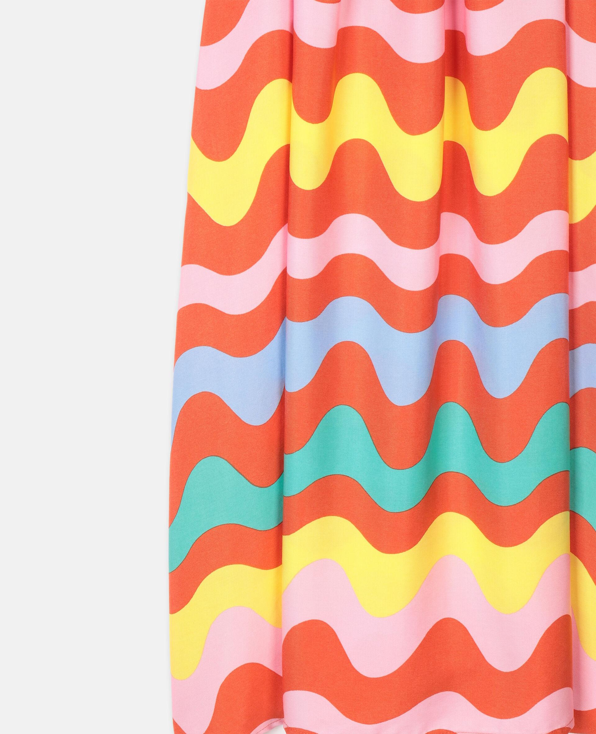 Viskosekleid mit Schlangenlinien-Bunt-large image number 2