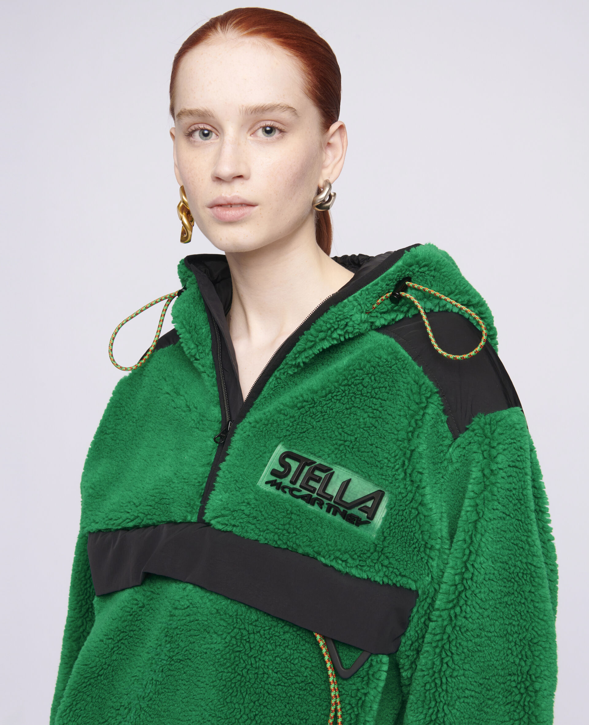 Marlee Teddy Mat Jacket-Green-large image number 3