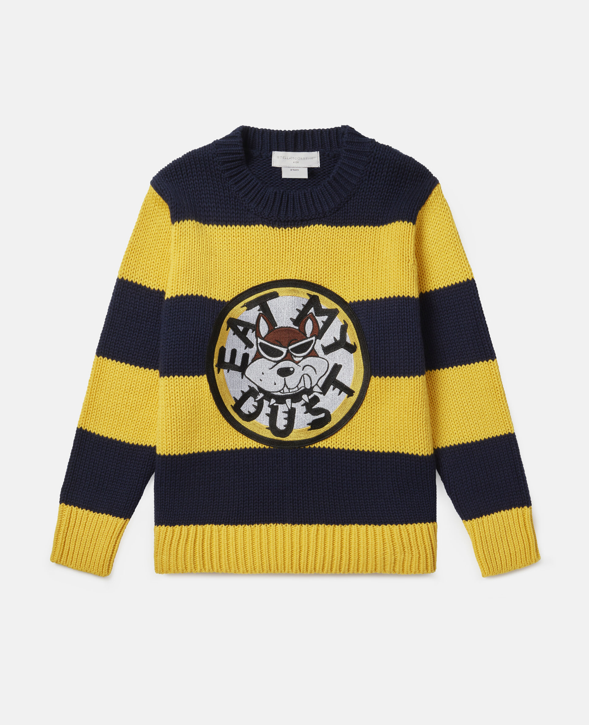 'Eat My Dust' Oversized Knit Jumper-Multicolour-large image number 0
