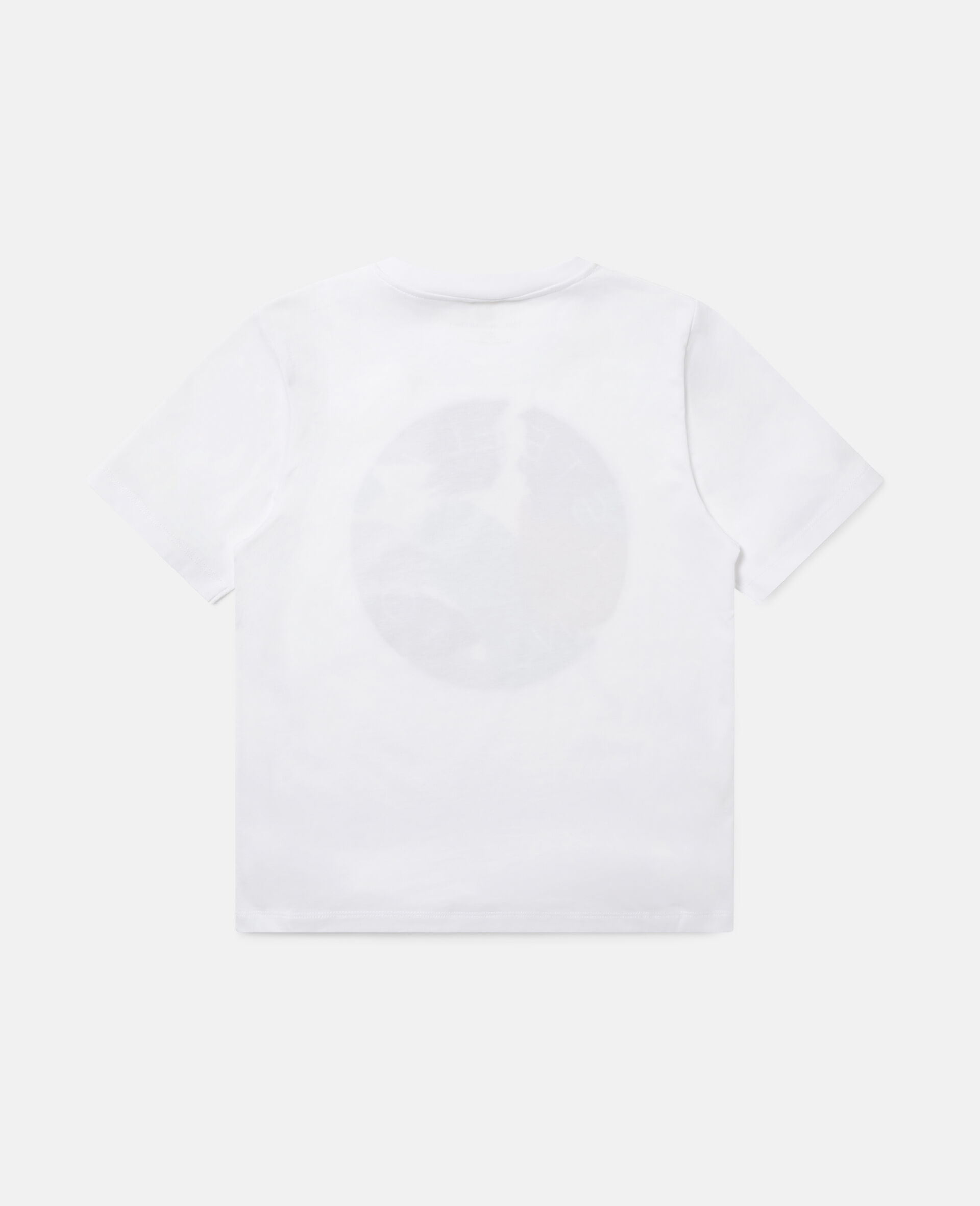 T-Shirt aus Baumwolle mit Camouflage-Logo -Weiß-large image number 3