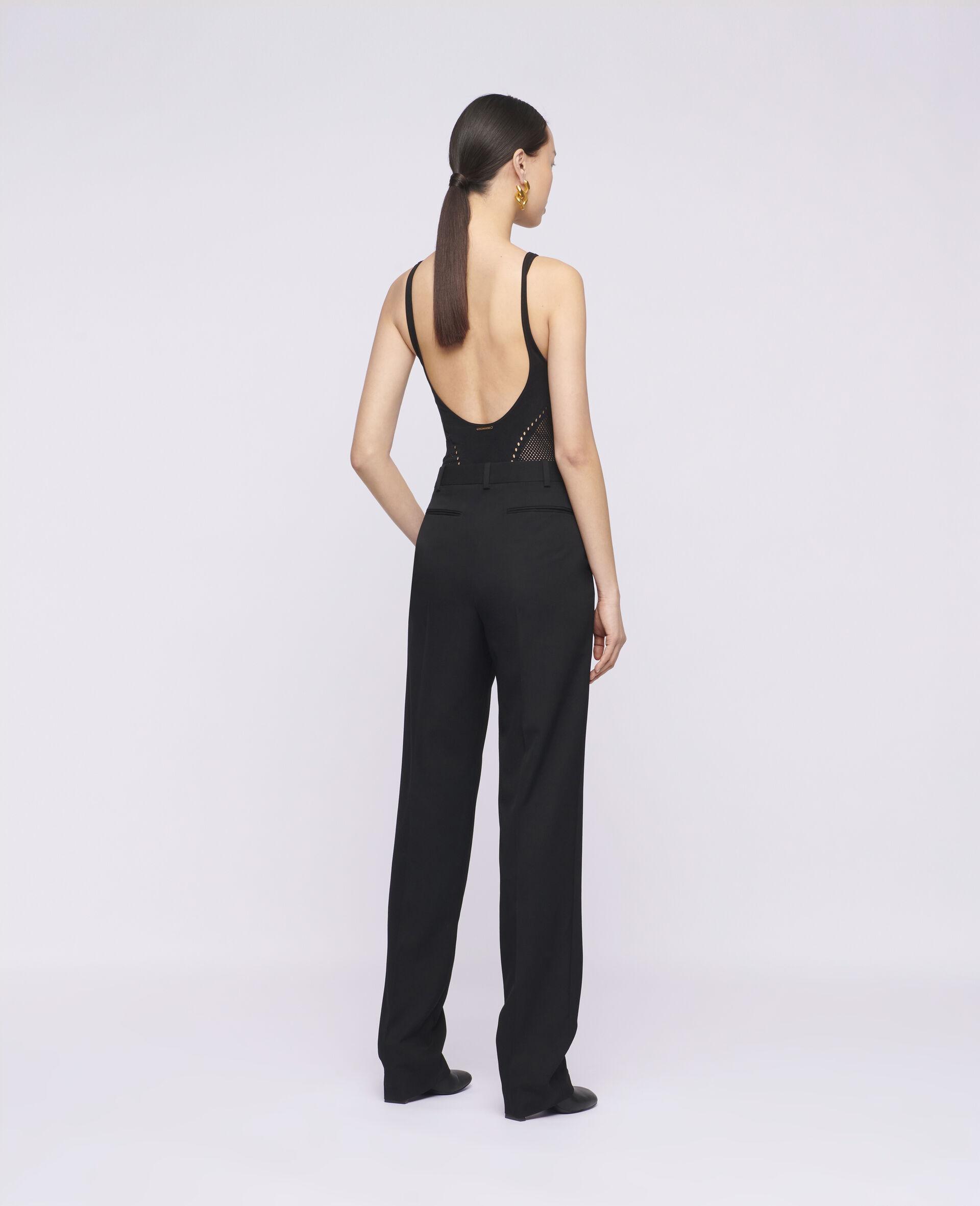 Pantaloni Lara in Lana-Nero-large image number 2