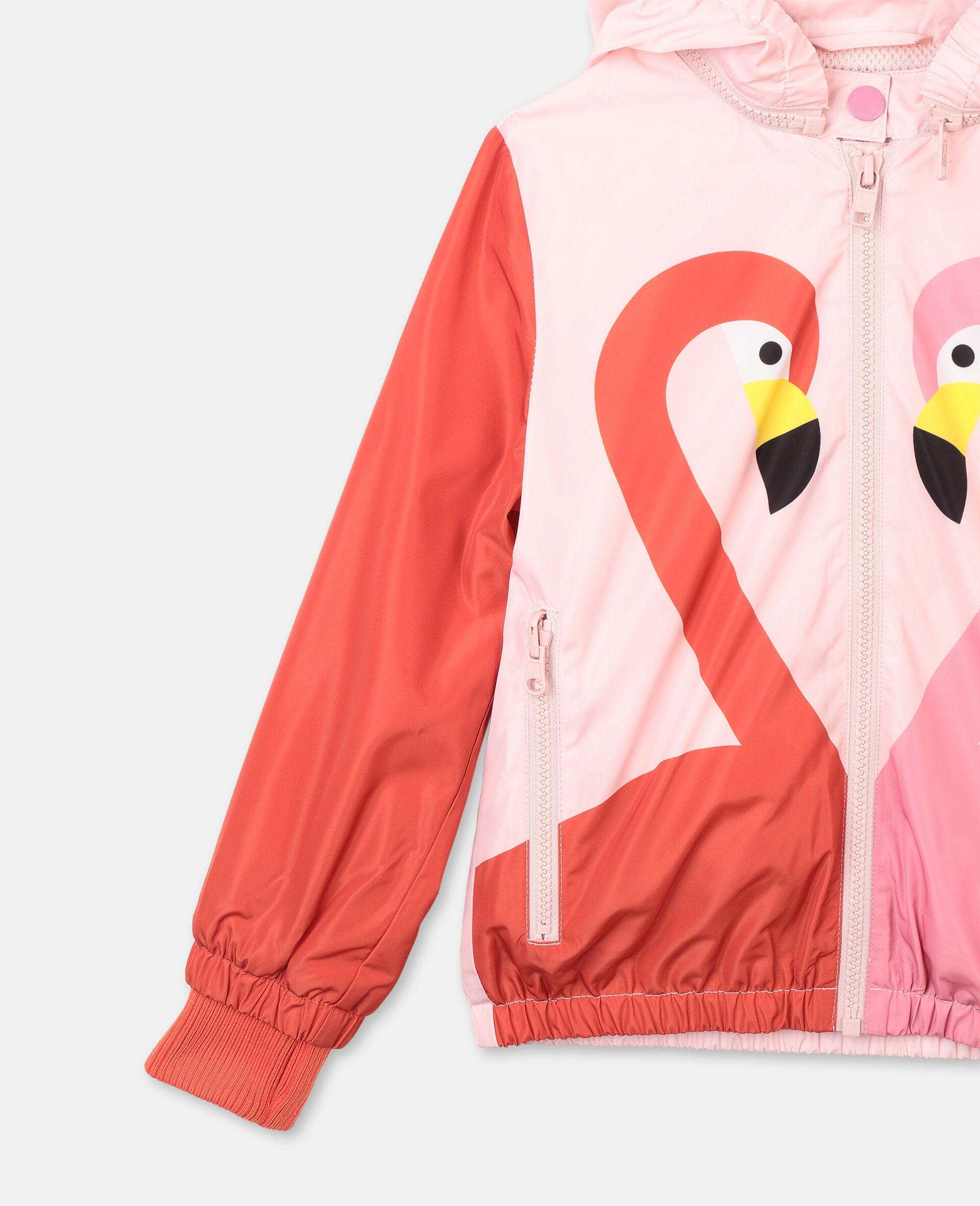 Veste à capuche avec motif flamant rose -Rose-large image number 1