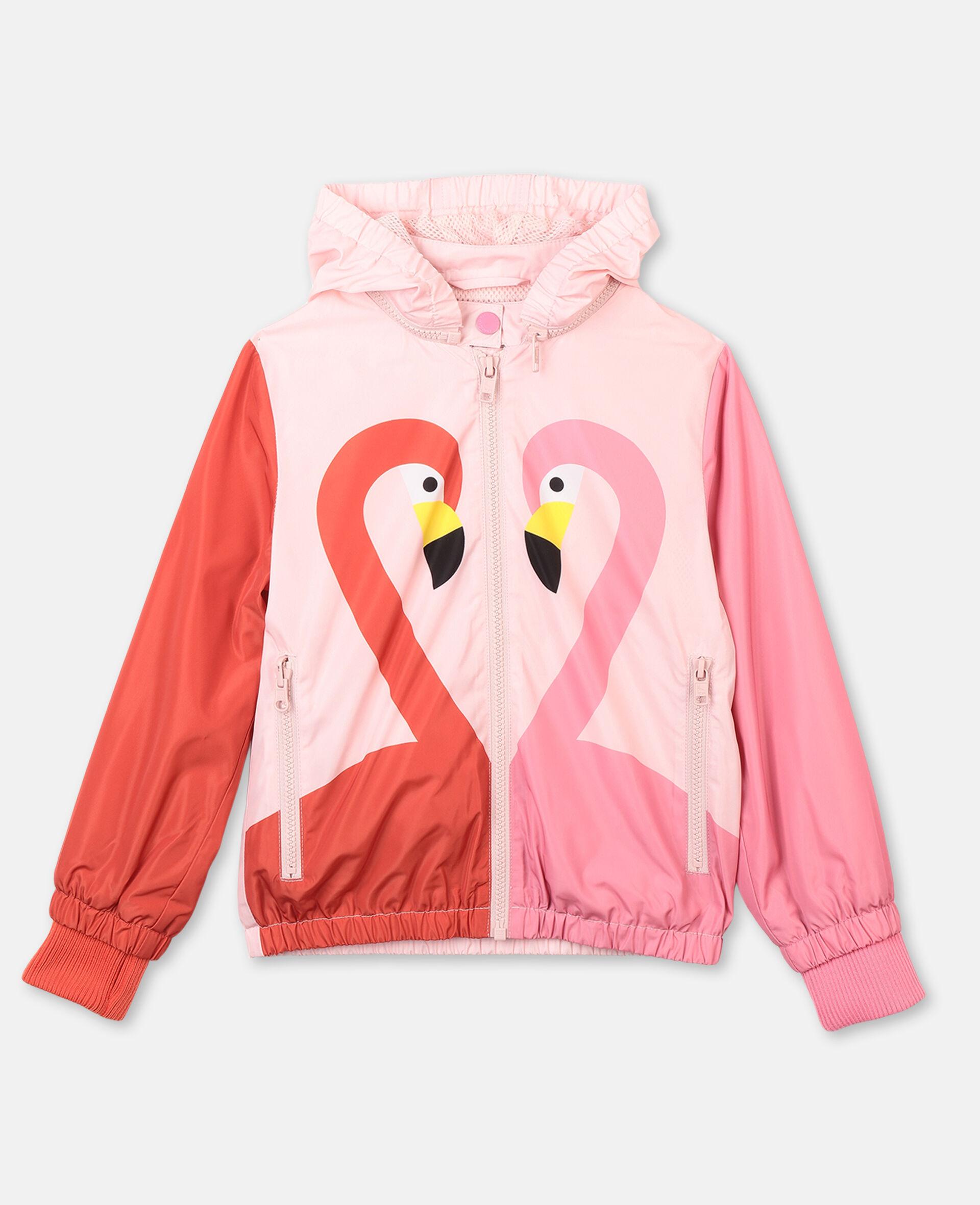 Veste à capuche avec motif flamant rose -Rose-large image number 0
