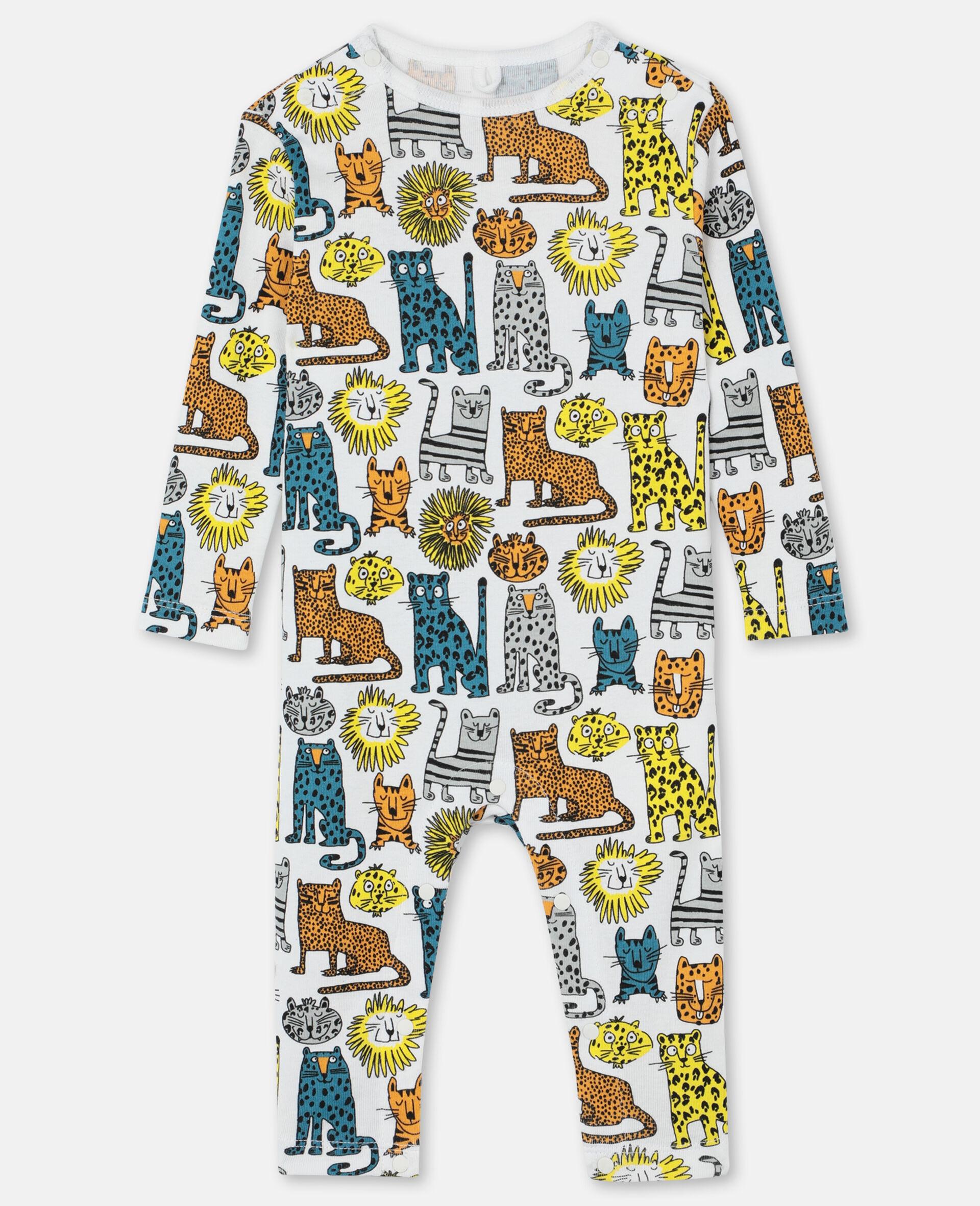 Body und Jumpsuit aus geripptem Jersey mit Wildkatzen-Print -Bunt-large image number 3
