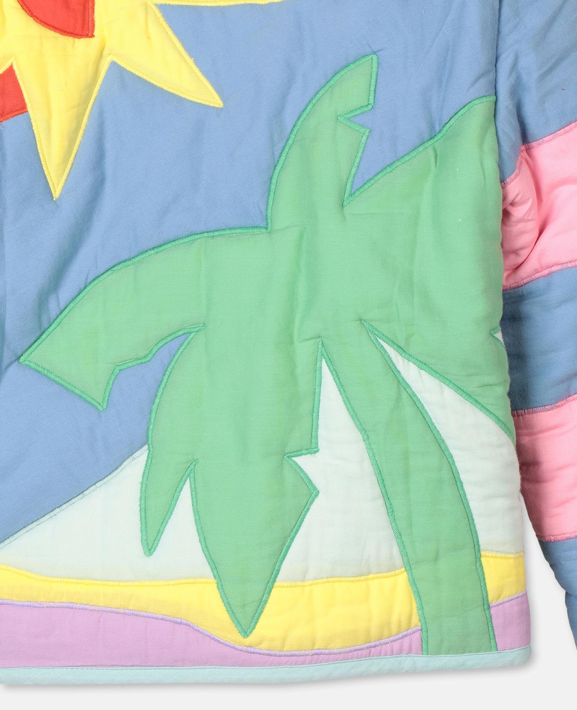 Palms Patches Cotton Jacket -Multicolour-large image number 2