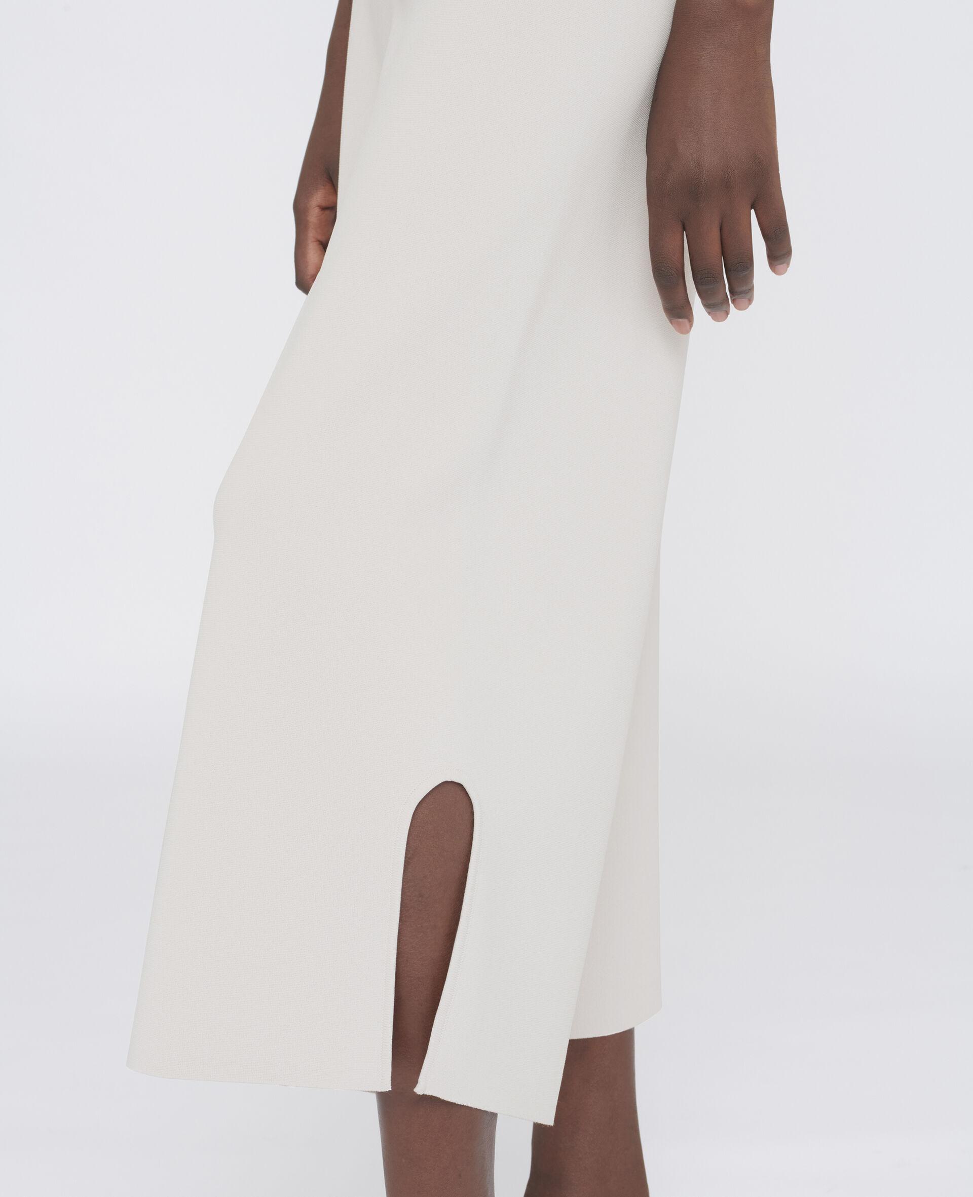 Pantalon en maille compacte-Gris-large image number 3
