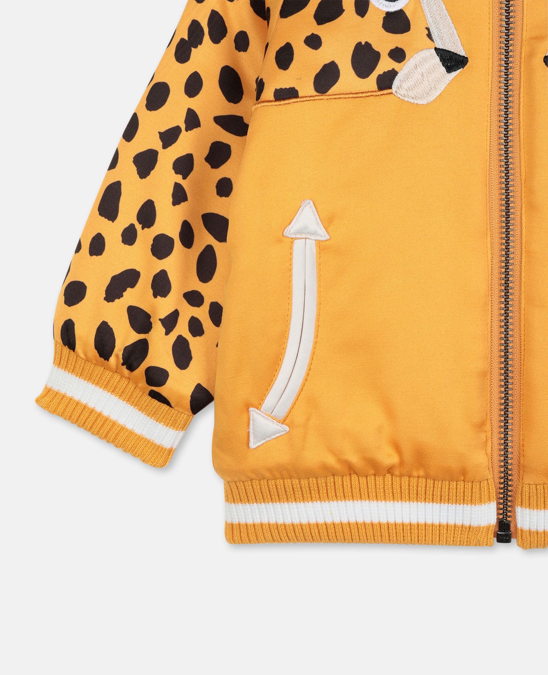 Cheetah 饰片缎面飞行员夹克   -橙色-large image number 2