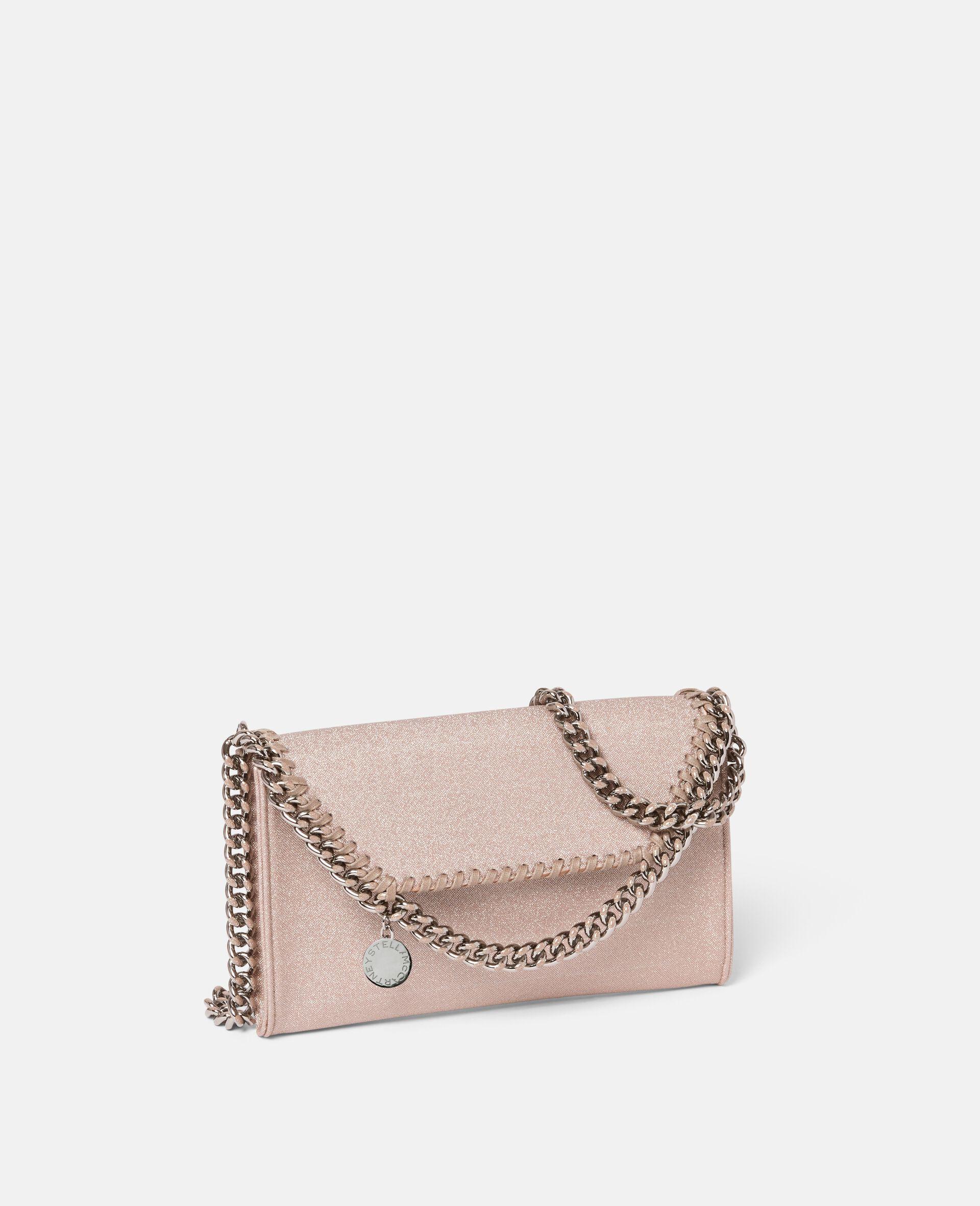 Falabella Glitter Mini Shoulder Bag -Pink-large image number 1