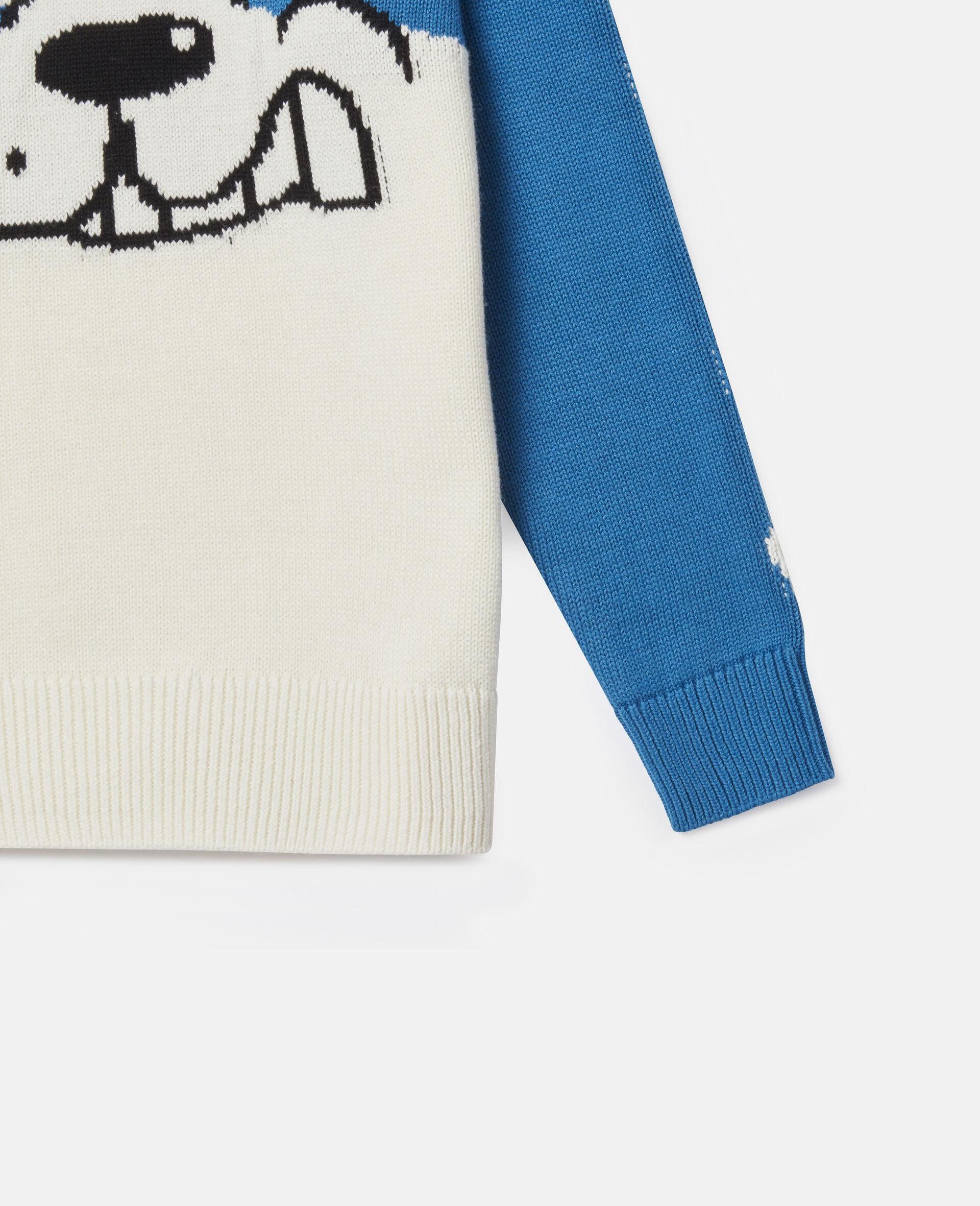 Doodle Dog Knit Intarsia Jumper-White-large image number 2
