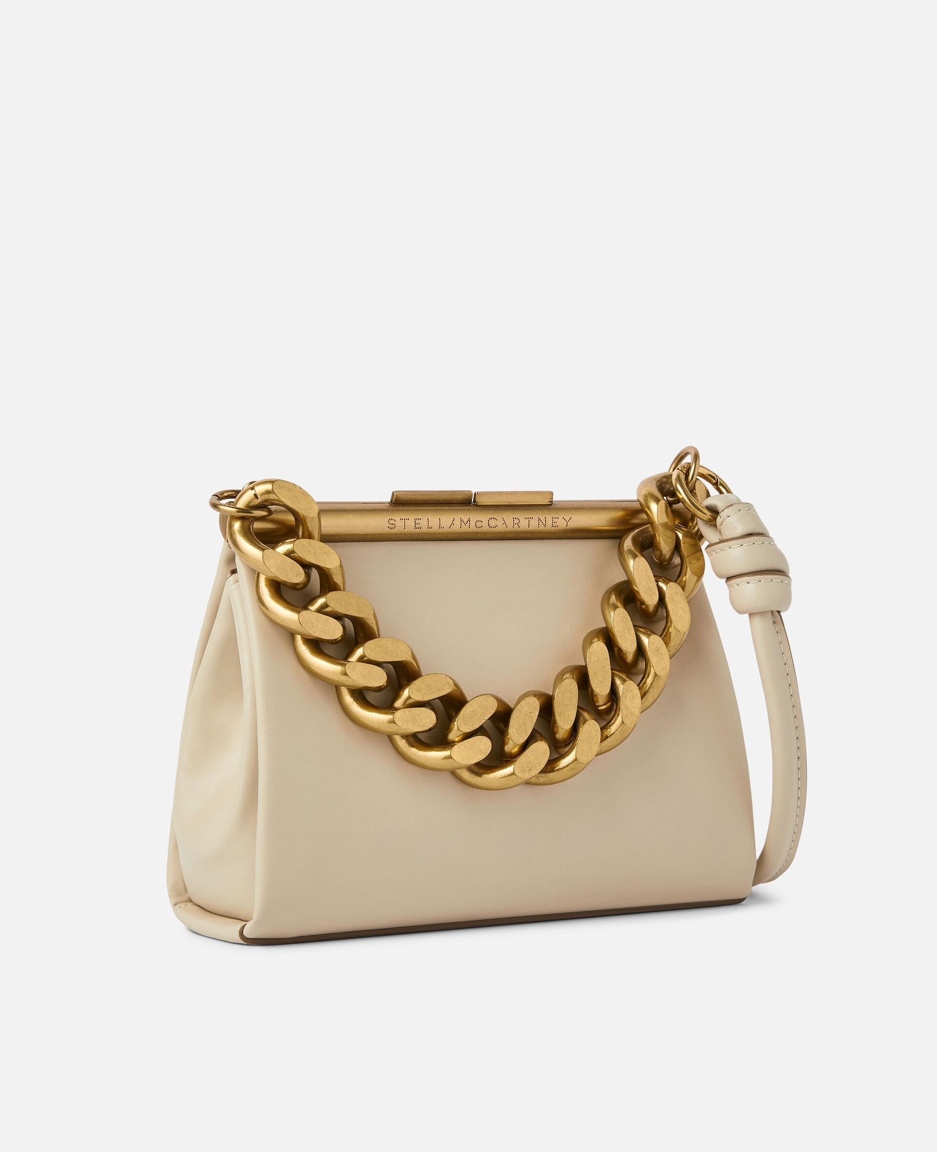 Petit sac avec bandoulière chaîne épaisse-Blanc-large image number 1