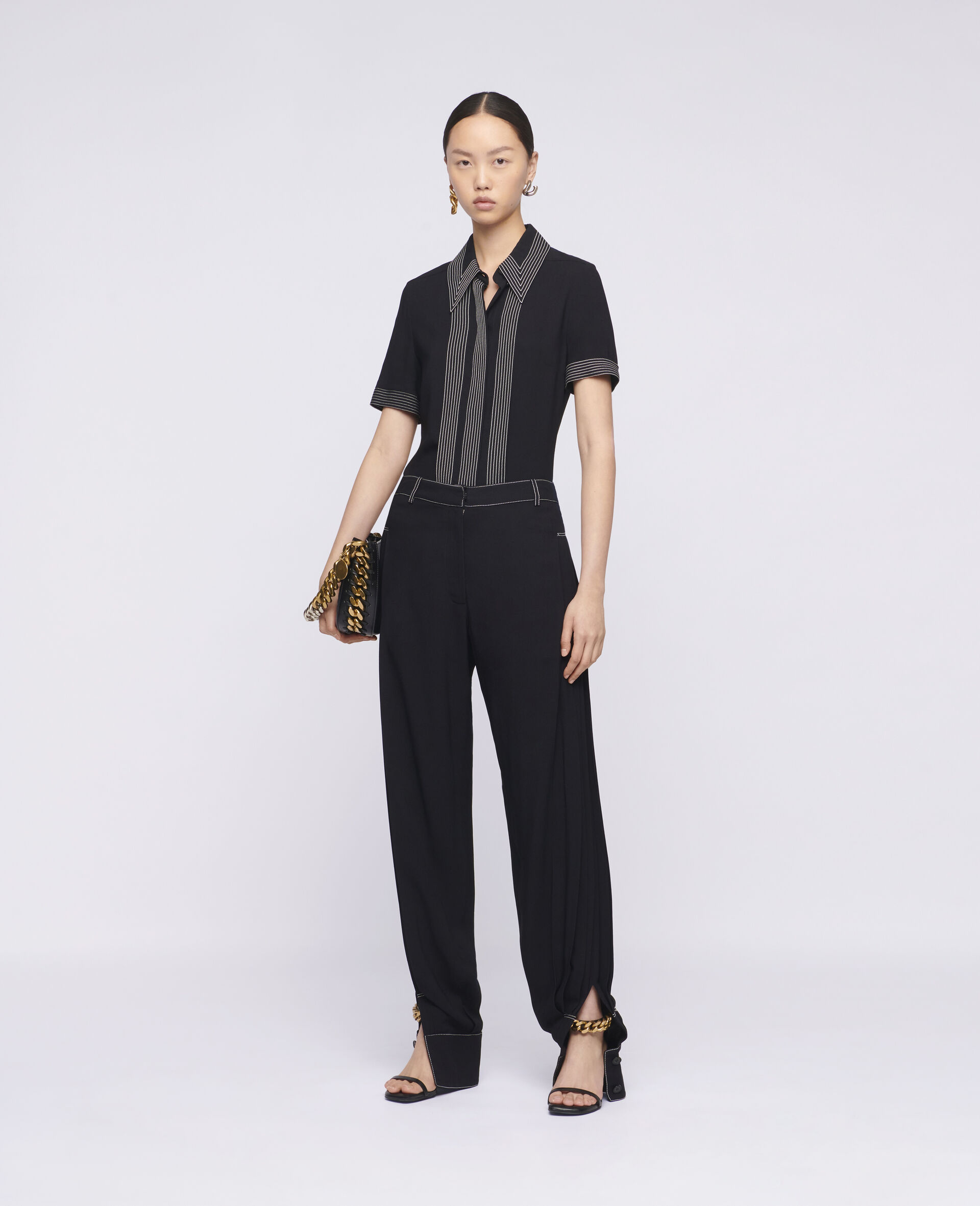 Rosa 衬衫-黑色-large image number 1