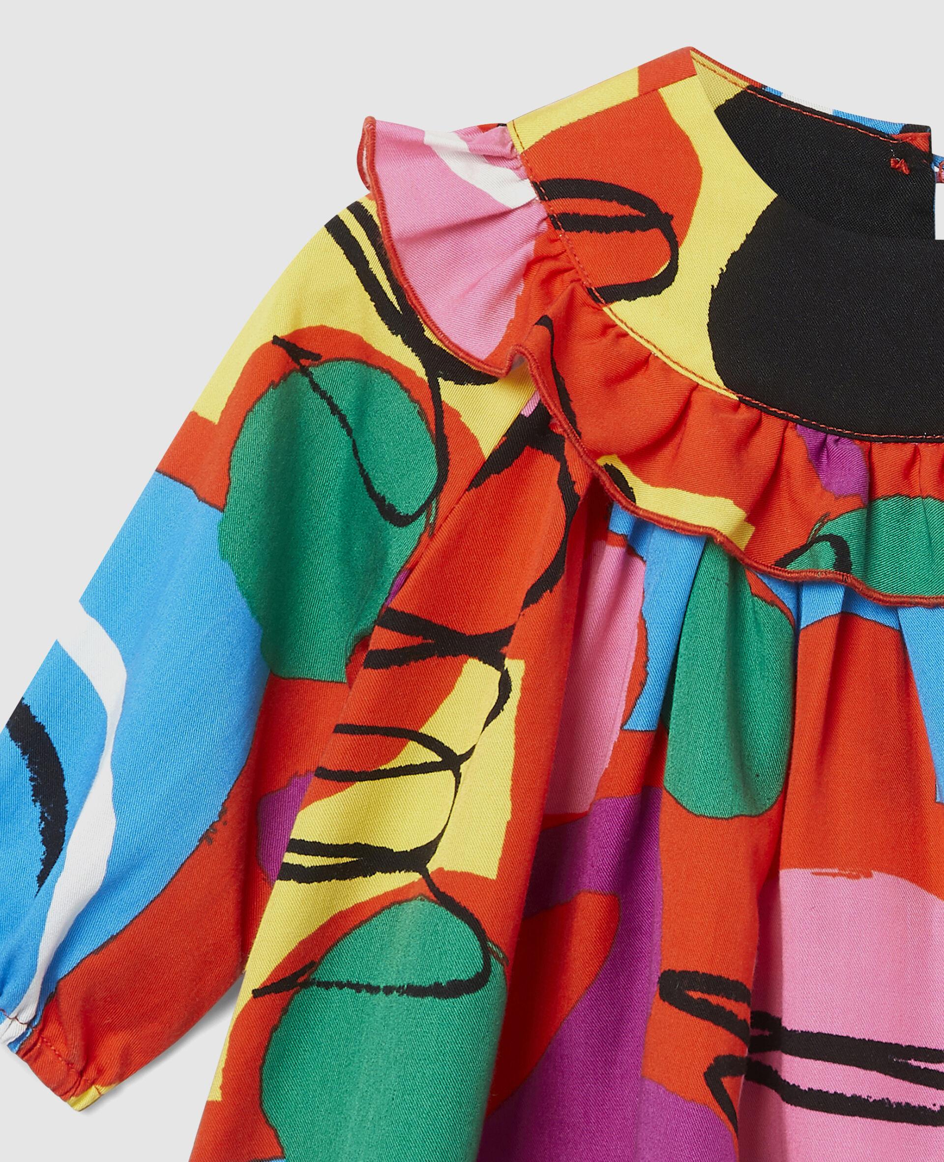 Painting Tencel Twill Dress-Multicoloured-large image number 2